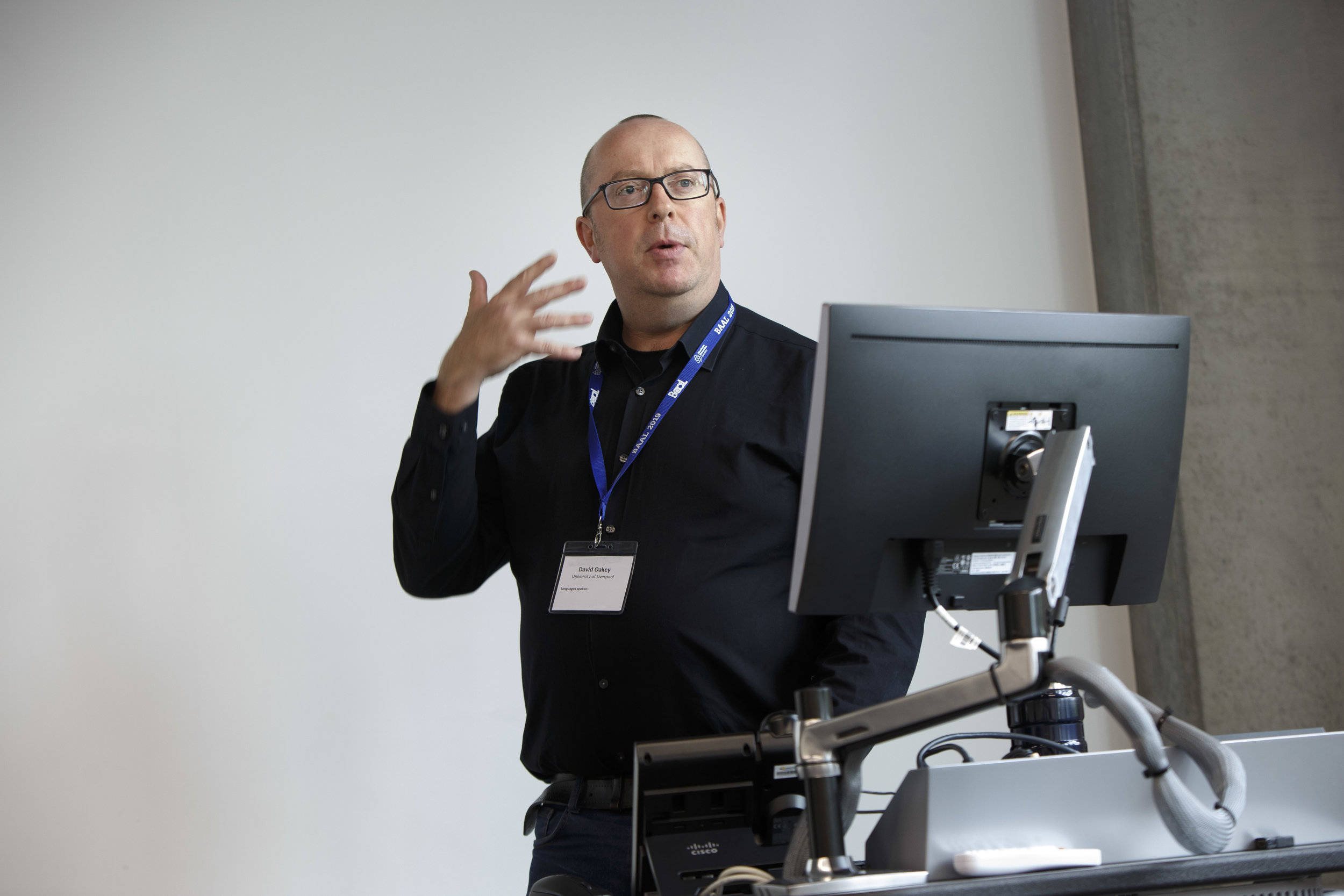 Photograph taken at a University conference, Manchester