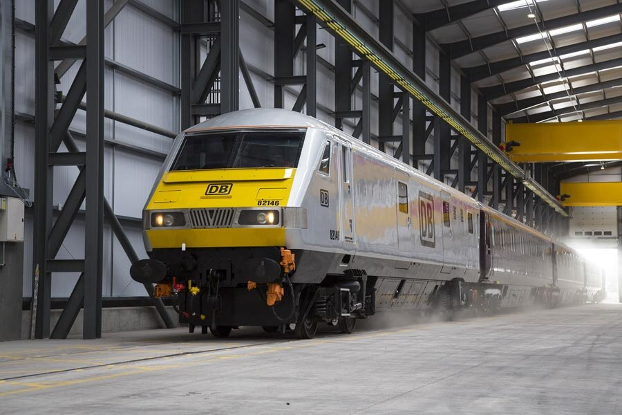 A photograph of a corporate event for DB Cargo, Wolverhampton, England