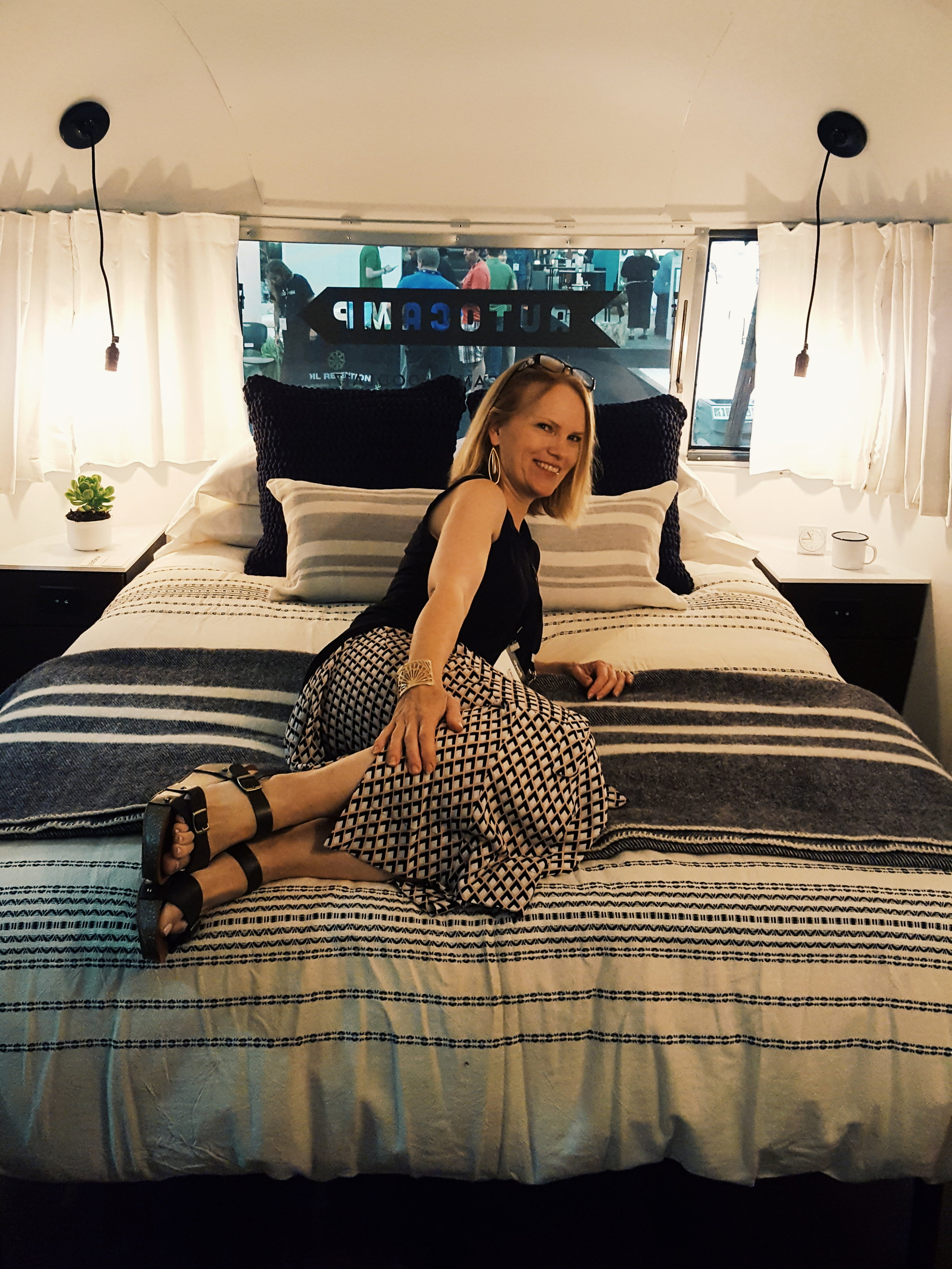 (Autocamp rep was cool enough to let me test out their trailer's bed!)