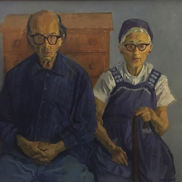 Raphael Soyer,  Dora and Sol Wilson,  1974