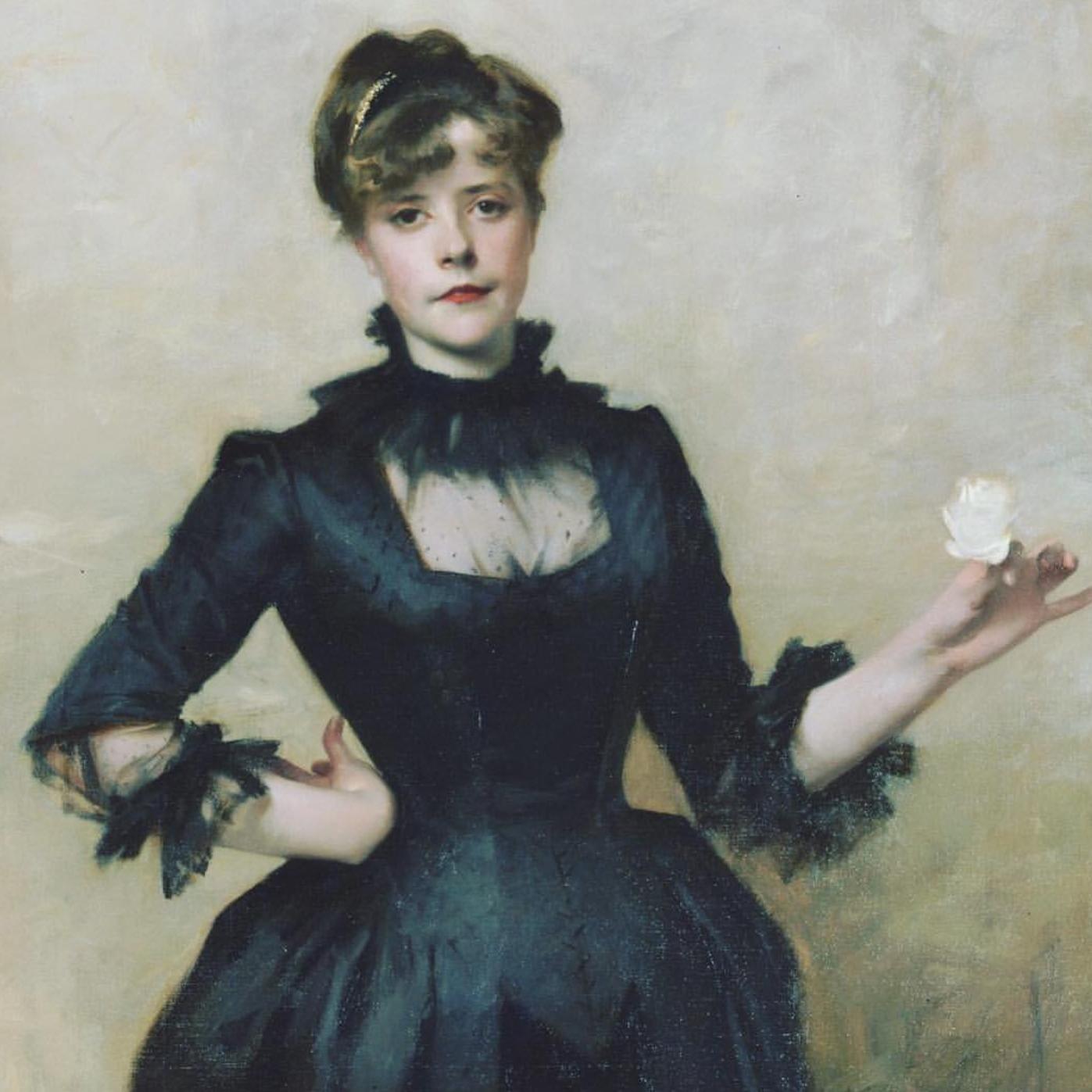 John Singer Sargent,  Lady with the Rose (Charlotte Louise Burckhardt),    1882