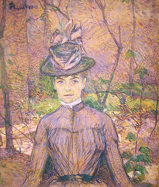Henri de Toulouse-Lautrec,  Portrait of Suzanne Valadon,  1885 (Museo Nacional de Bellas Artes)