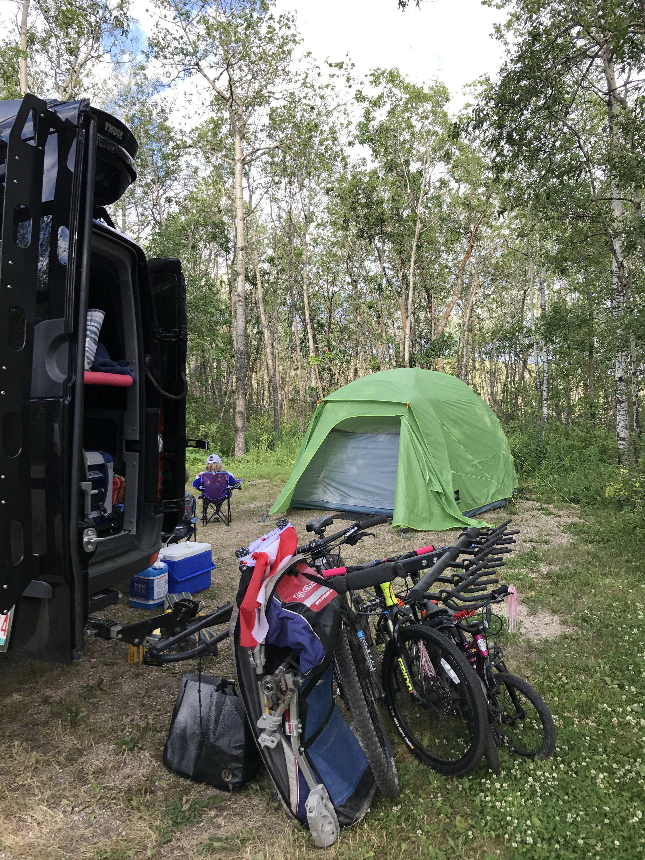 Campsite at Moose Mountain Provincial Park, Saskatchewan