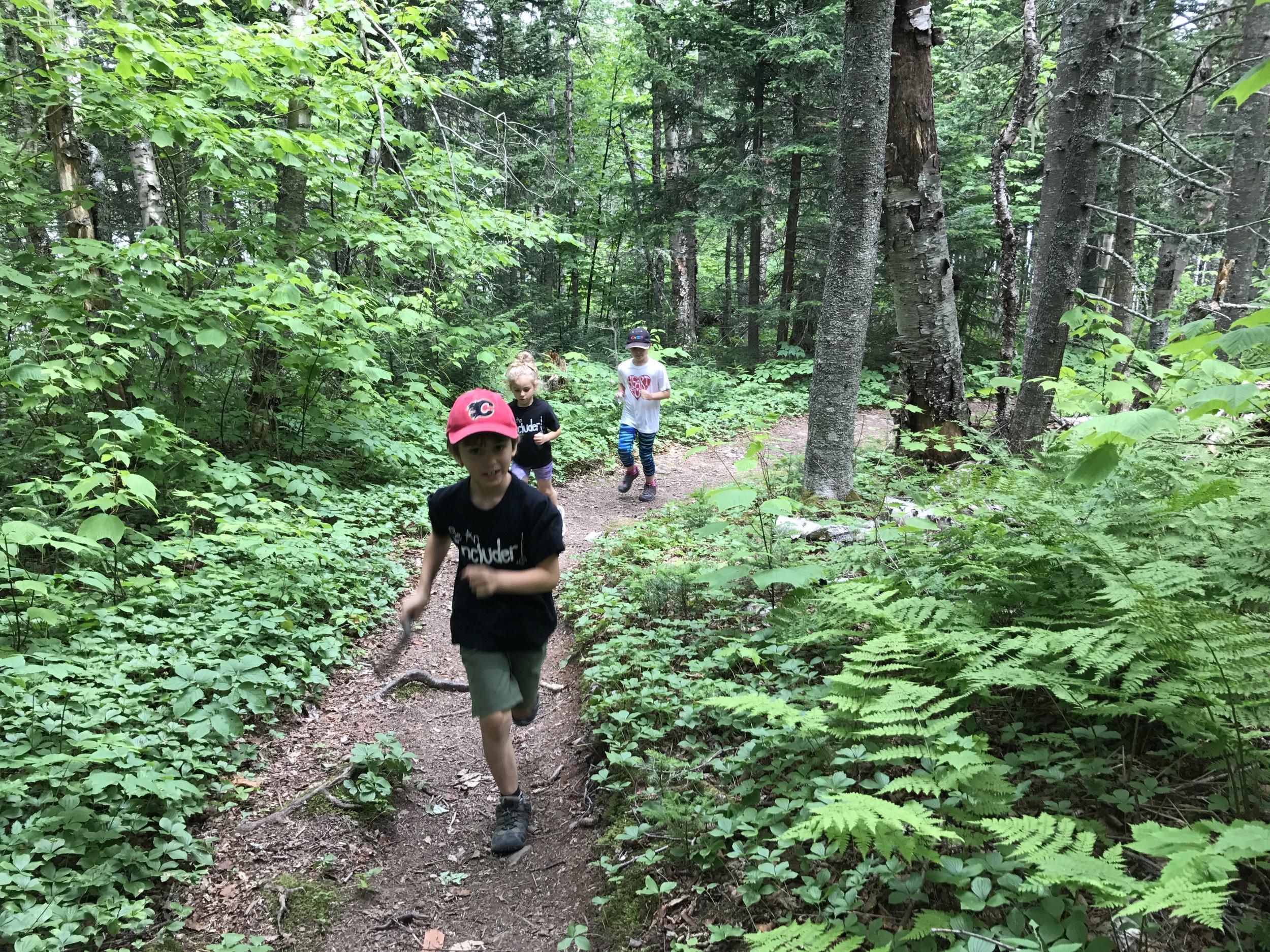 Running Matthews Head Trail.