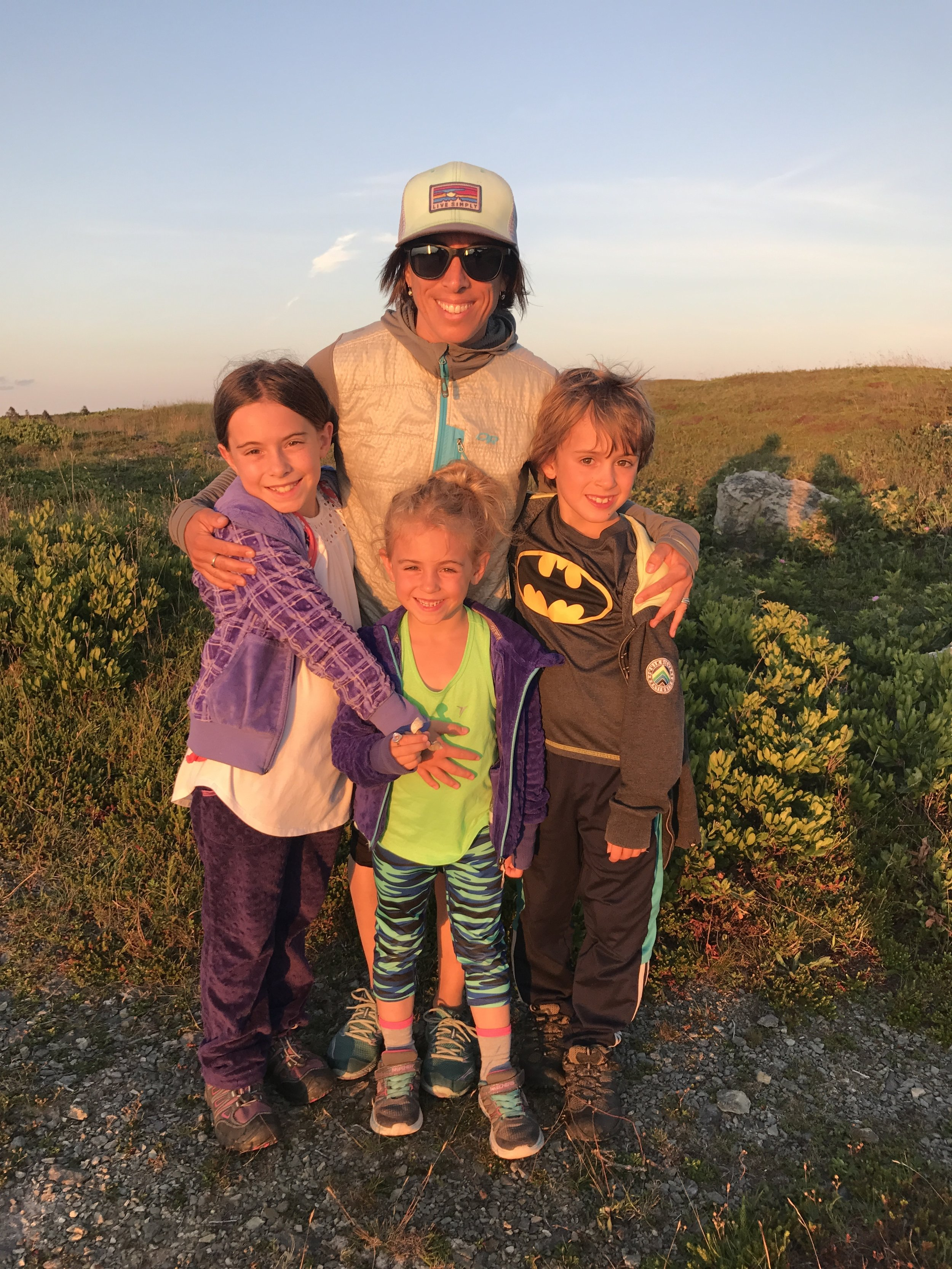 Me + 3: Van, Sophie, Ben, and Ellie: sunset hike to the lighthouse.