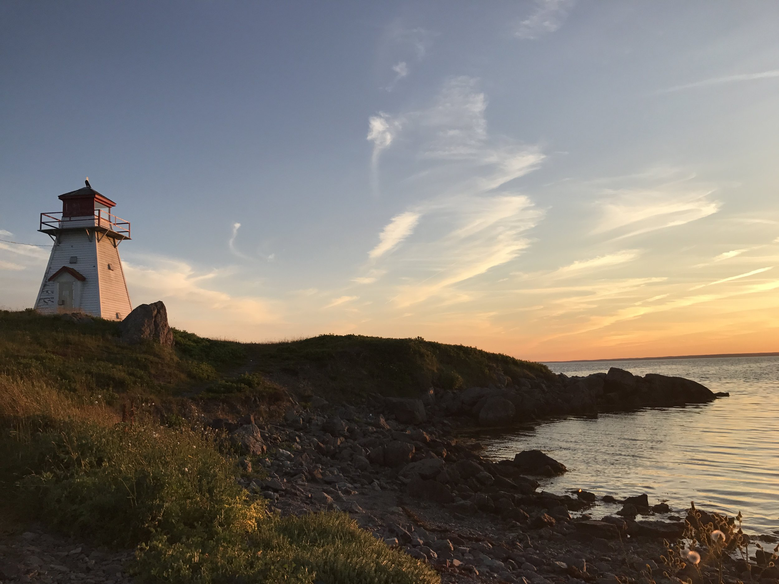 One of the best spots on Isle Madame to catch a beautiful sunset. The Cape-Auget lighthouse.