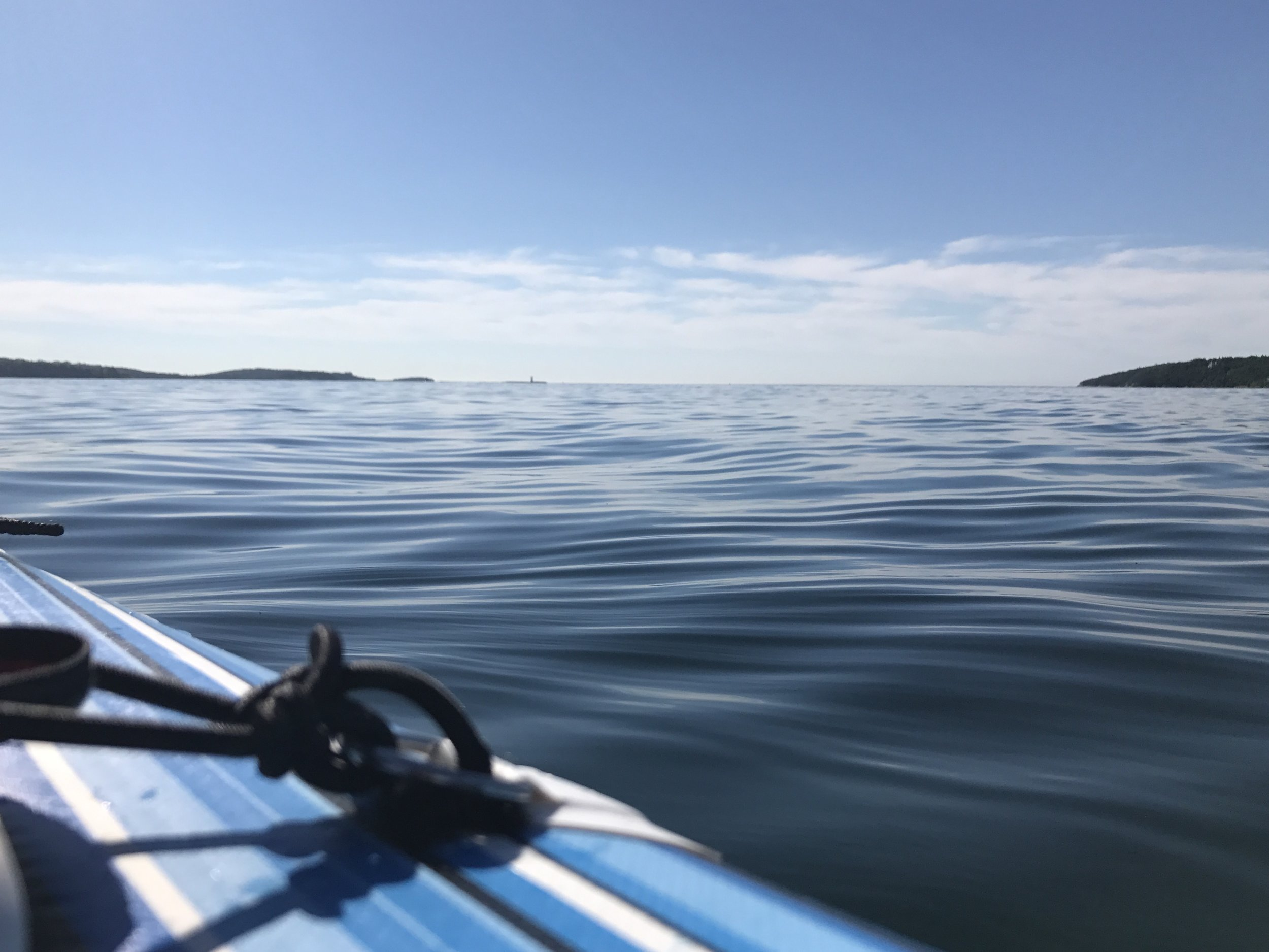 Stand up paddle board in the Halifax Harbour. Beautiful day to float near Point Pleasant Park.