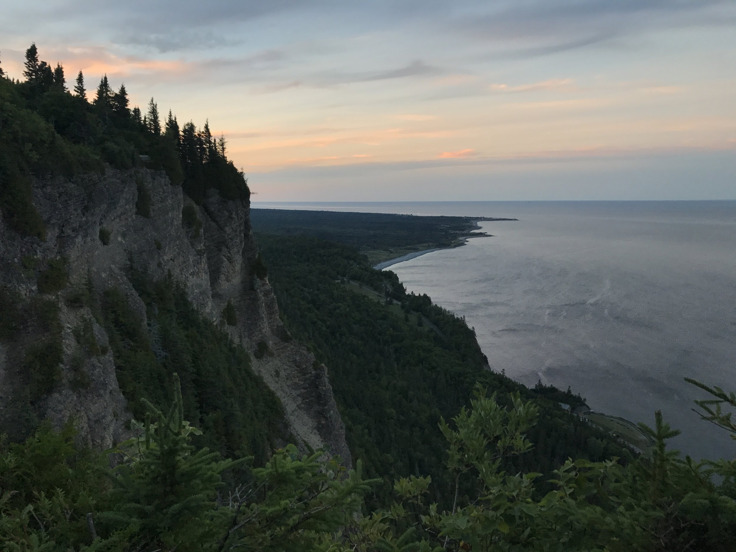 The view on the climb up to the Observation deck, Mont-Saint-Alban, Forillon National Park.