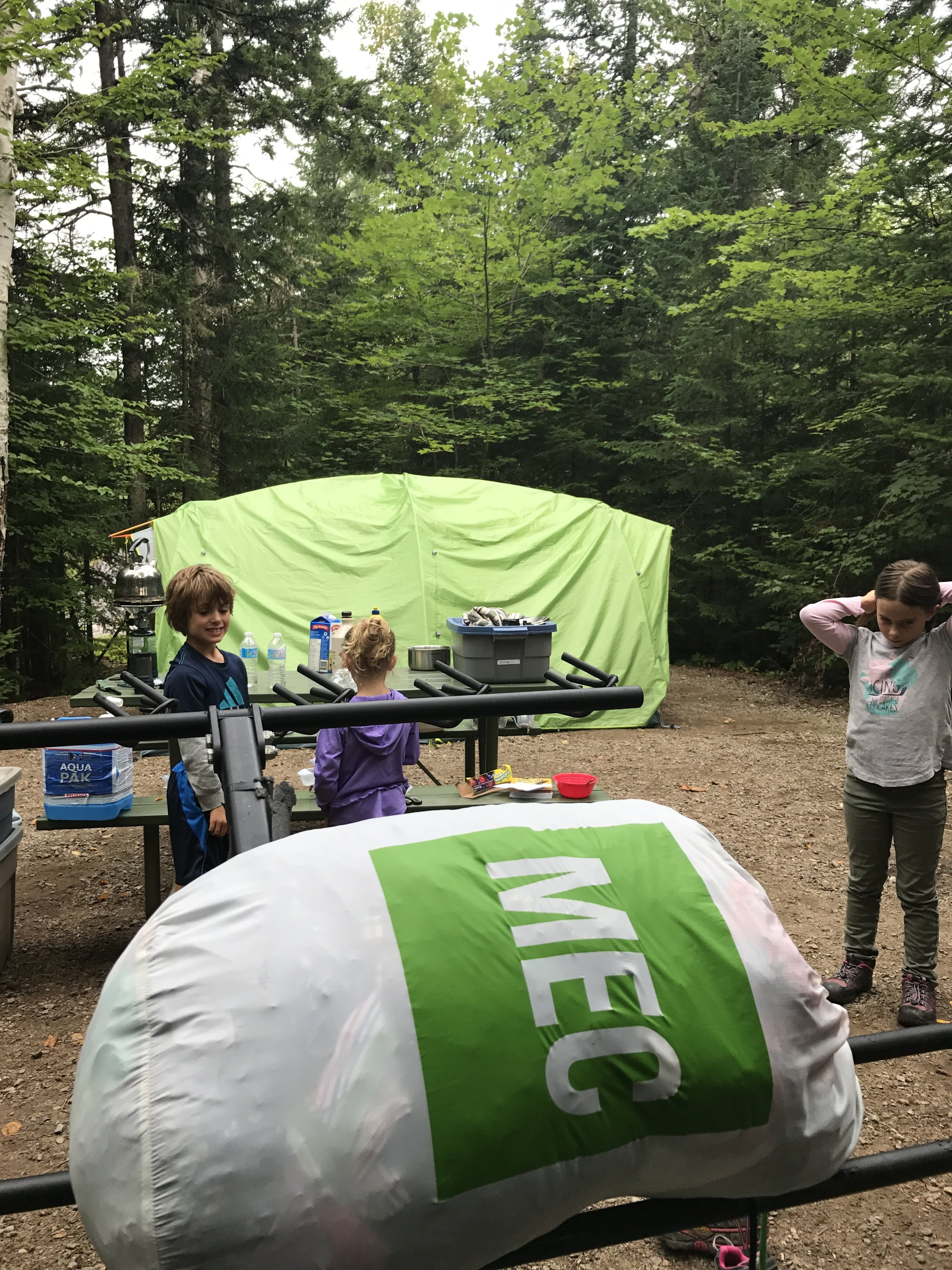 Settling into our campsite in La Mauricie.