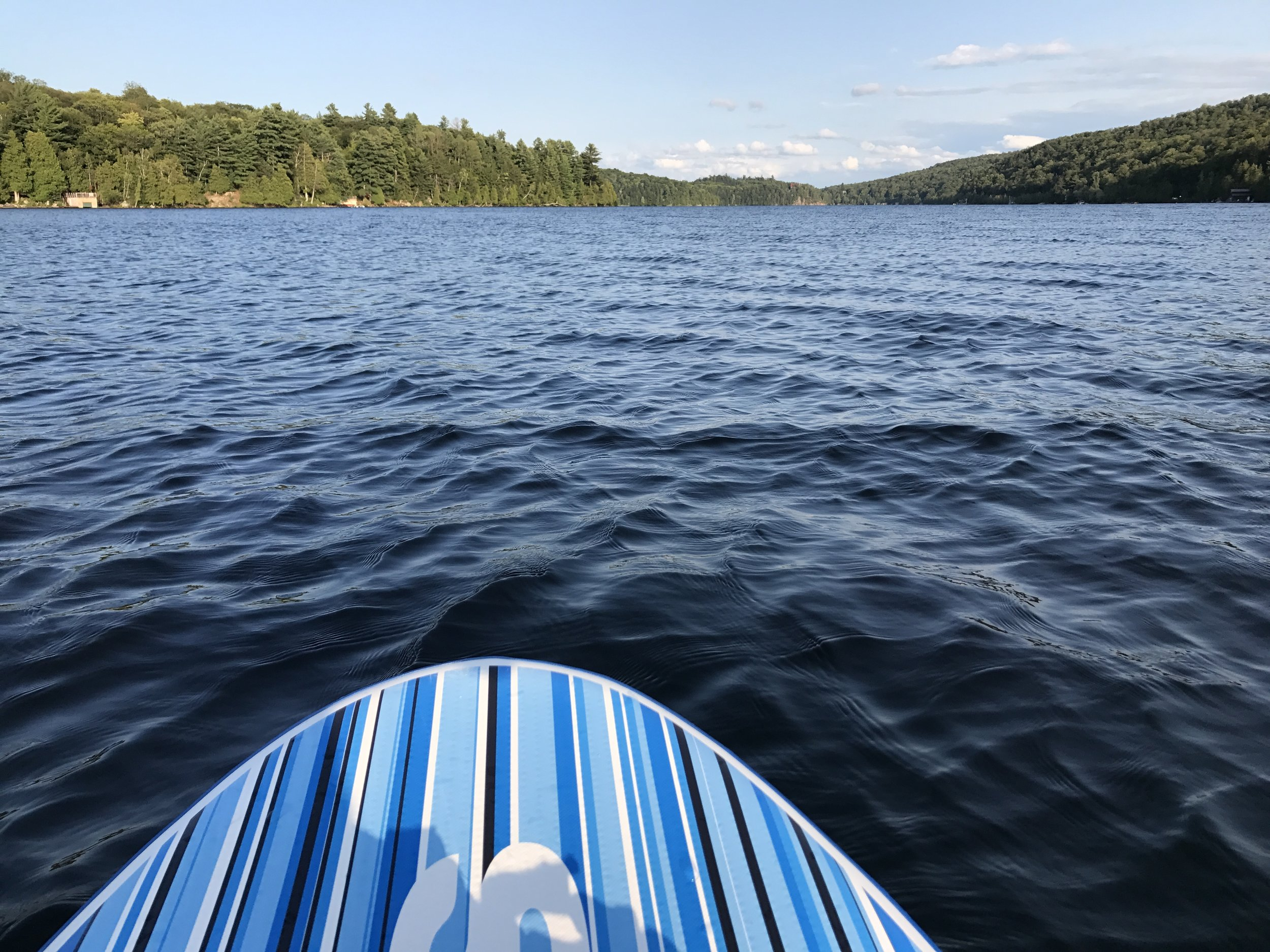 Out for a paddle on Meech Lake.