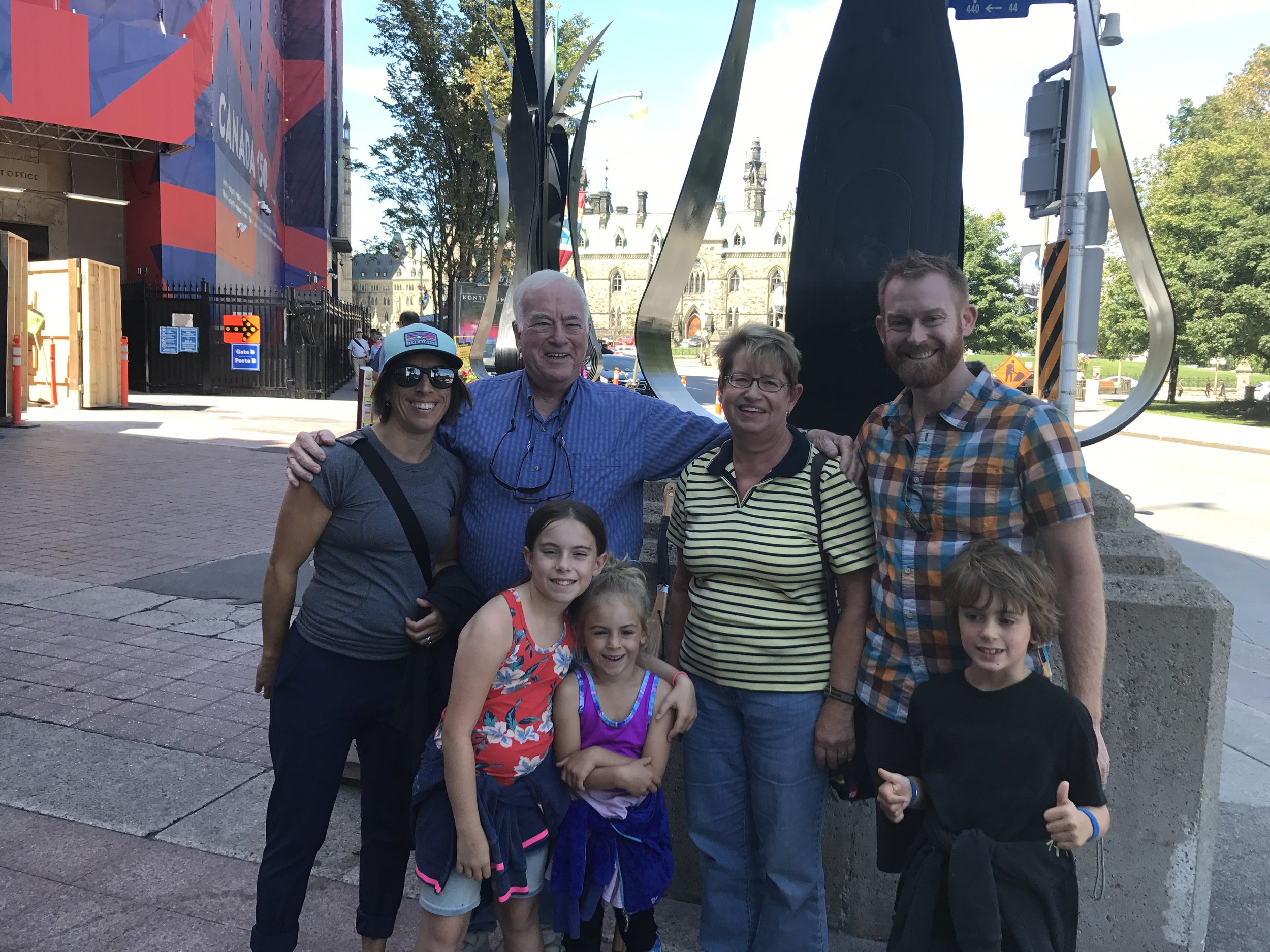 Lunch with Uncle Arch and Aunt Joan before our mini-tour of Ottawa.
