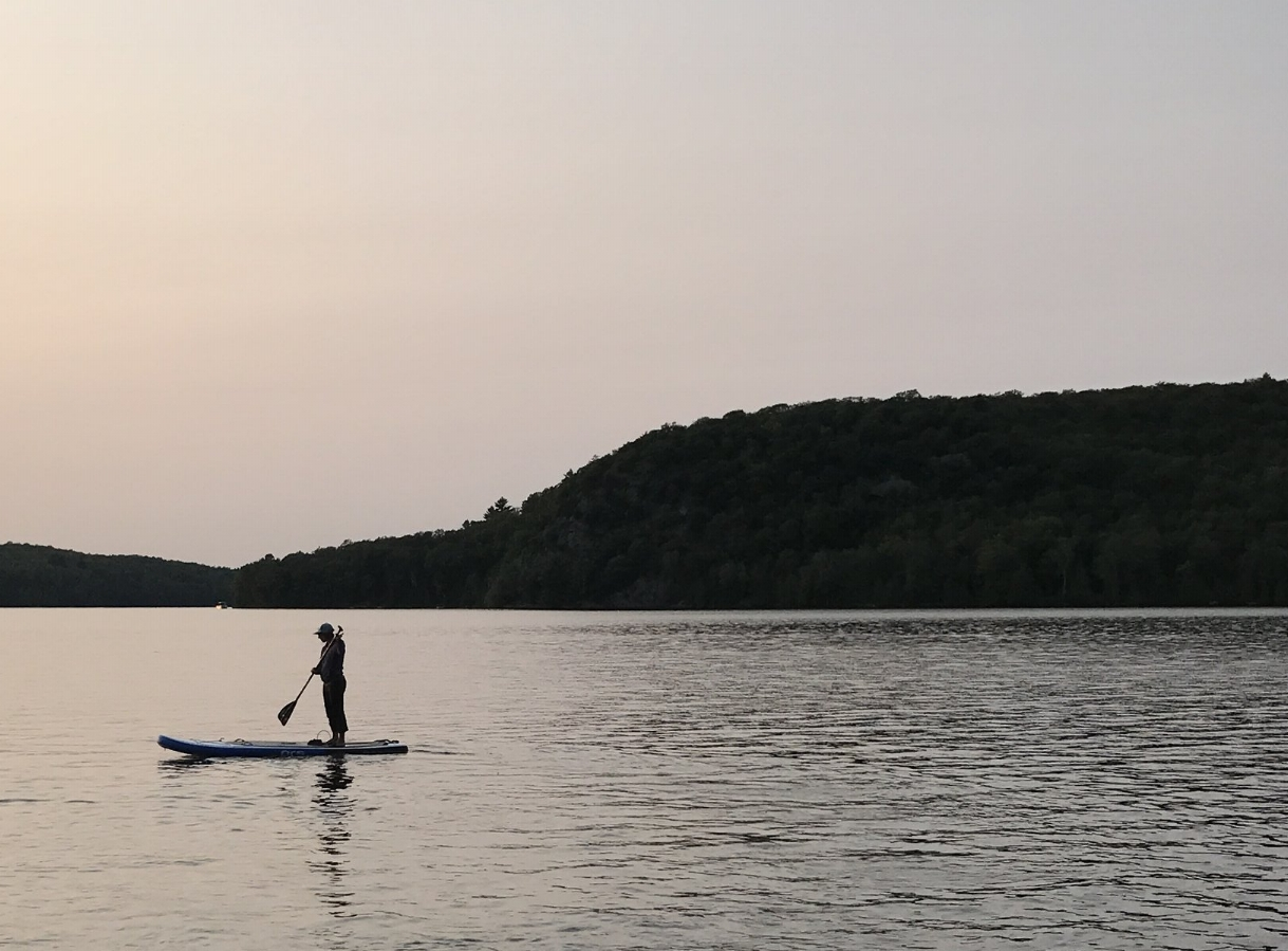 One last evening paddle on the Mazinaw.