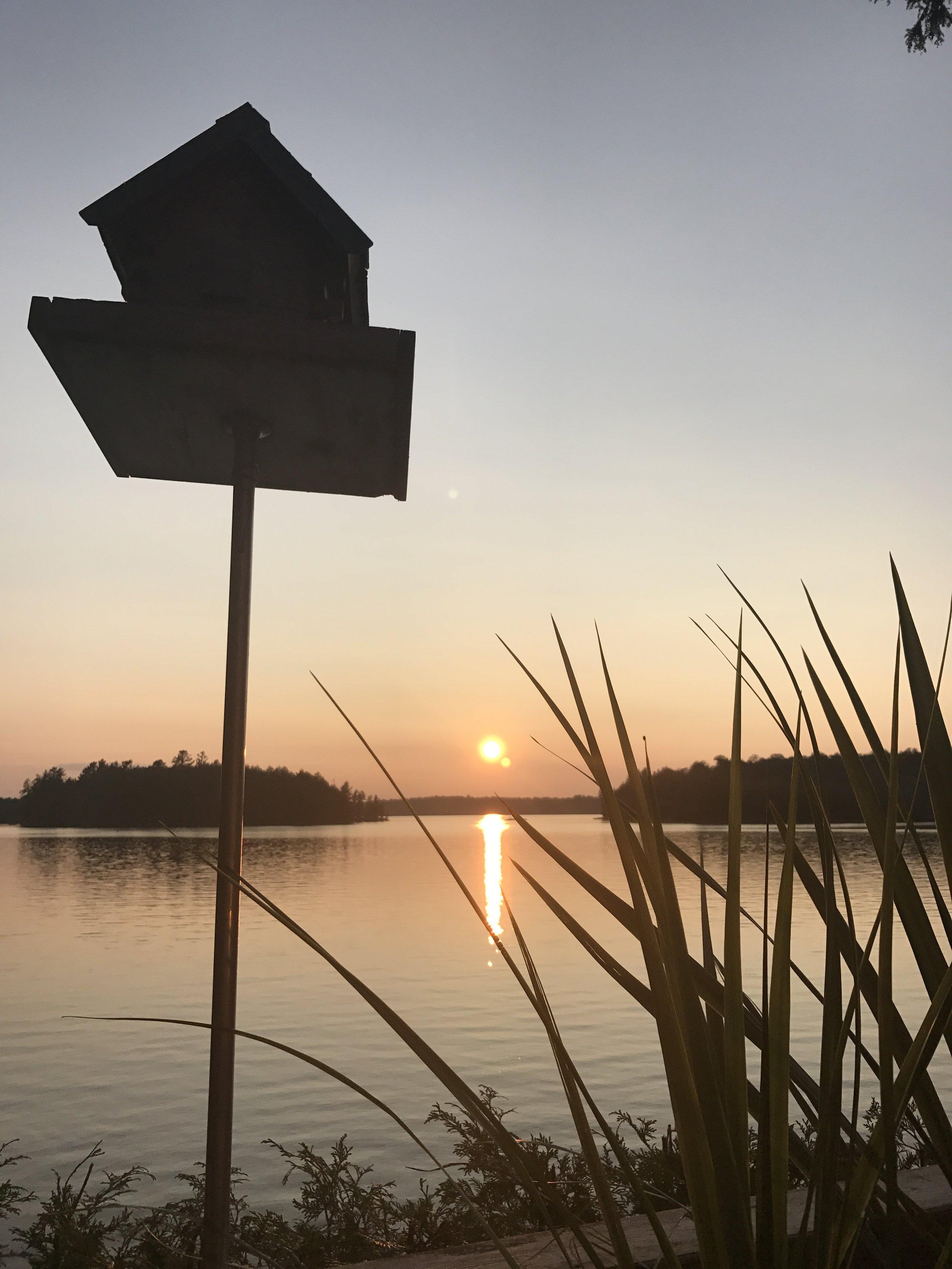 Beautiful sundown on Kennisis Lake.