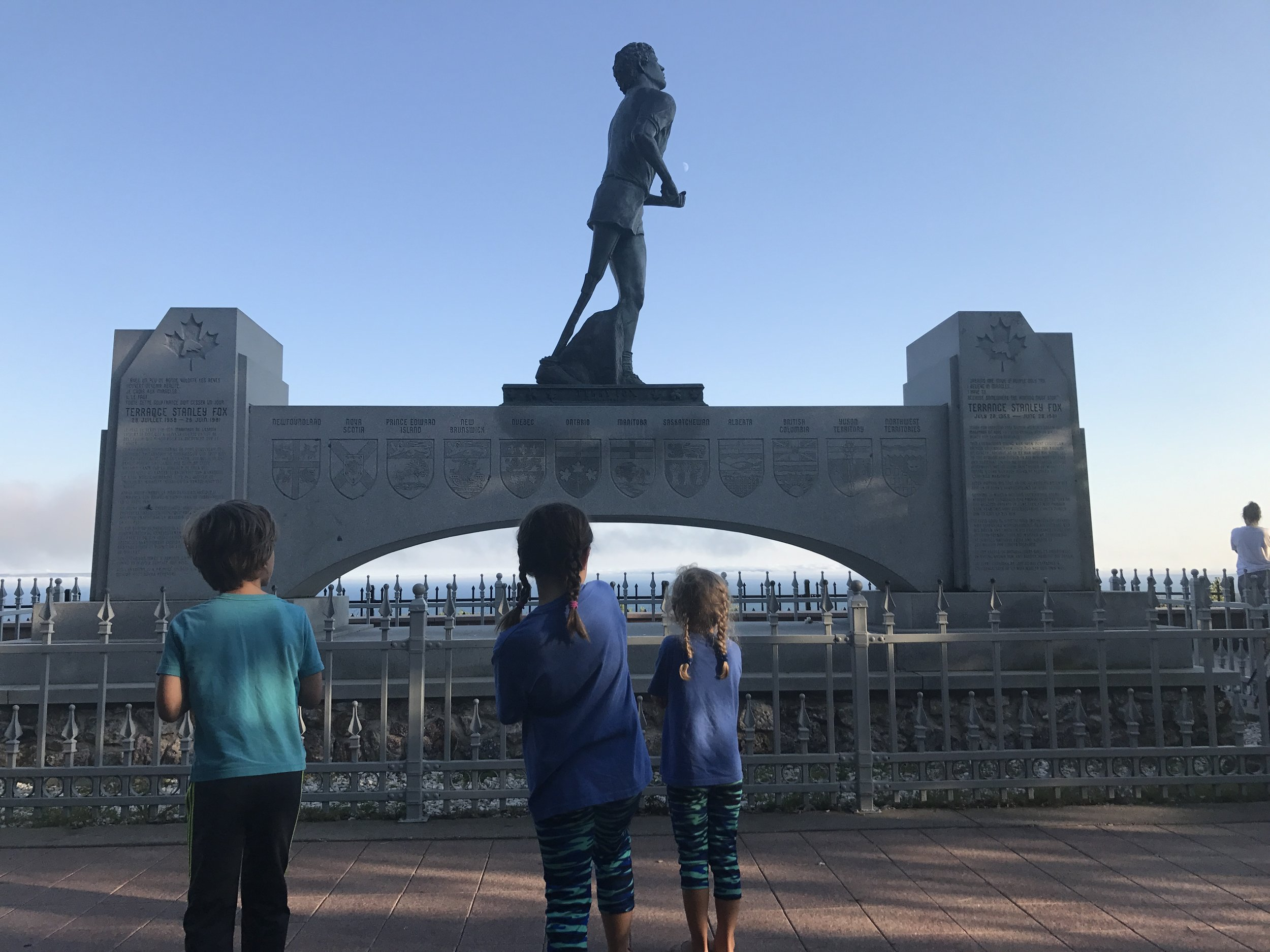 Taking a moment to admire Terry Fox's legacy.