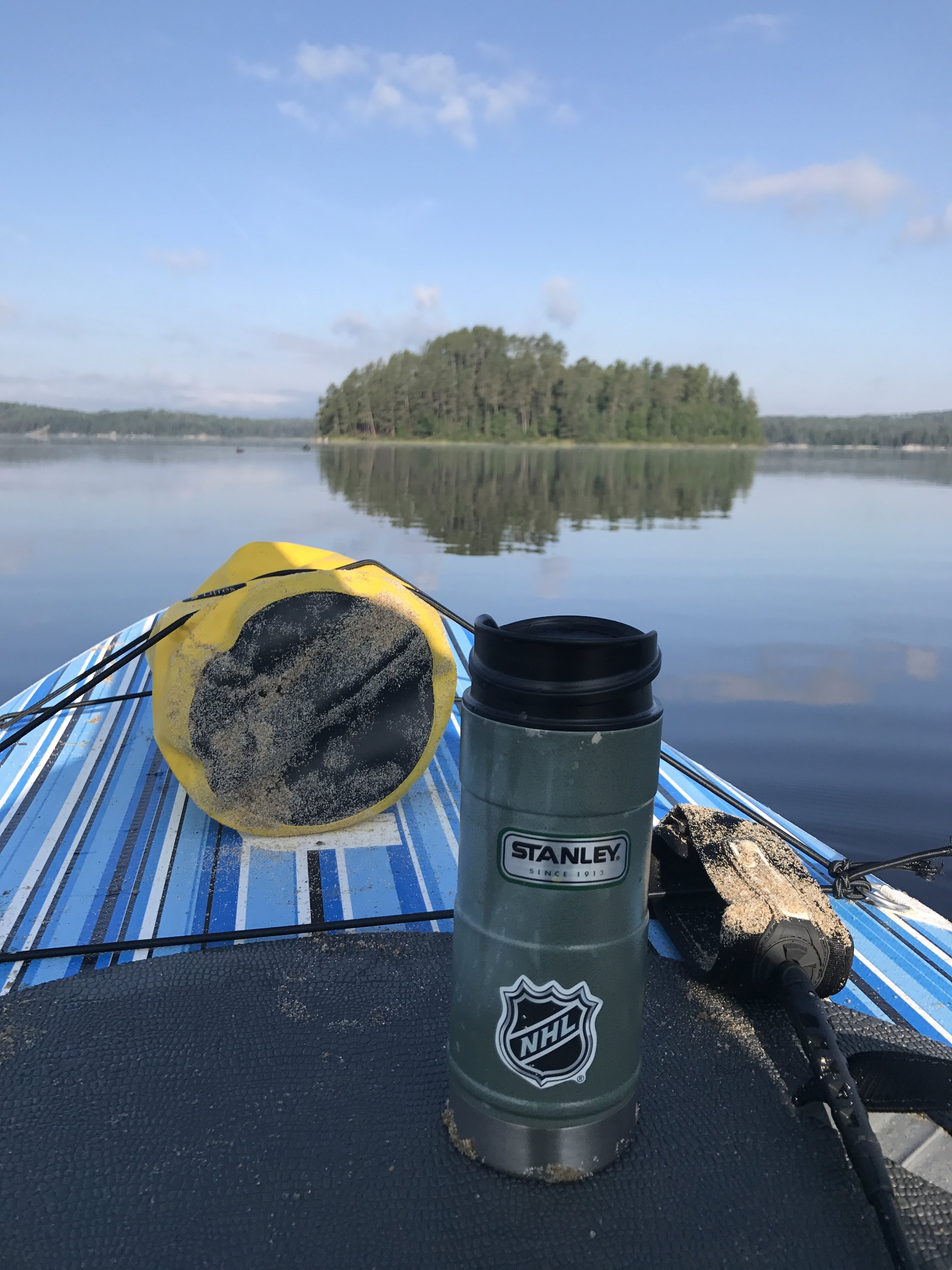 Morning coffee and paddle...ahh, what a great way to start our final day.
