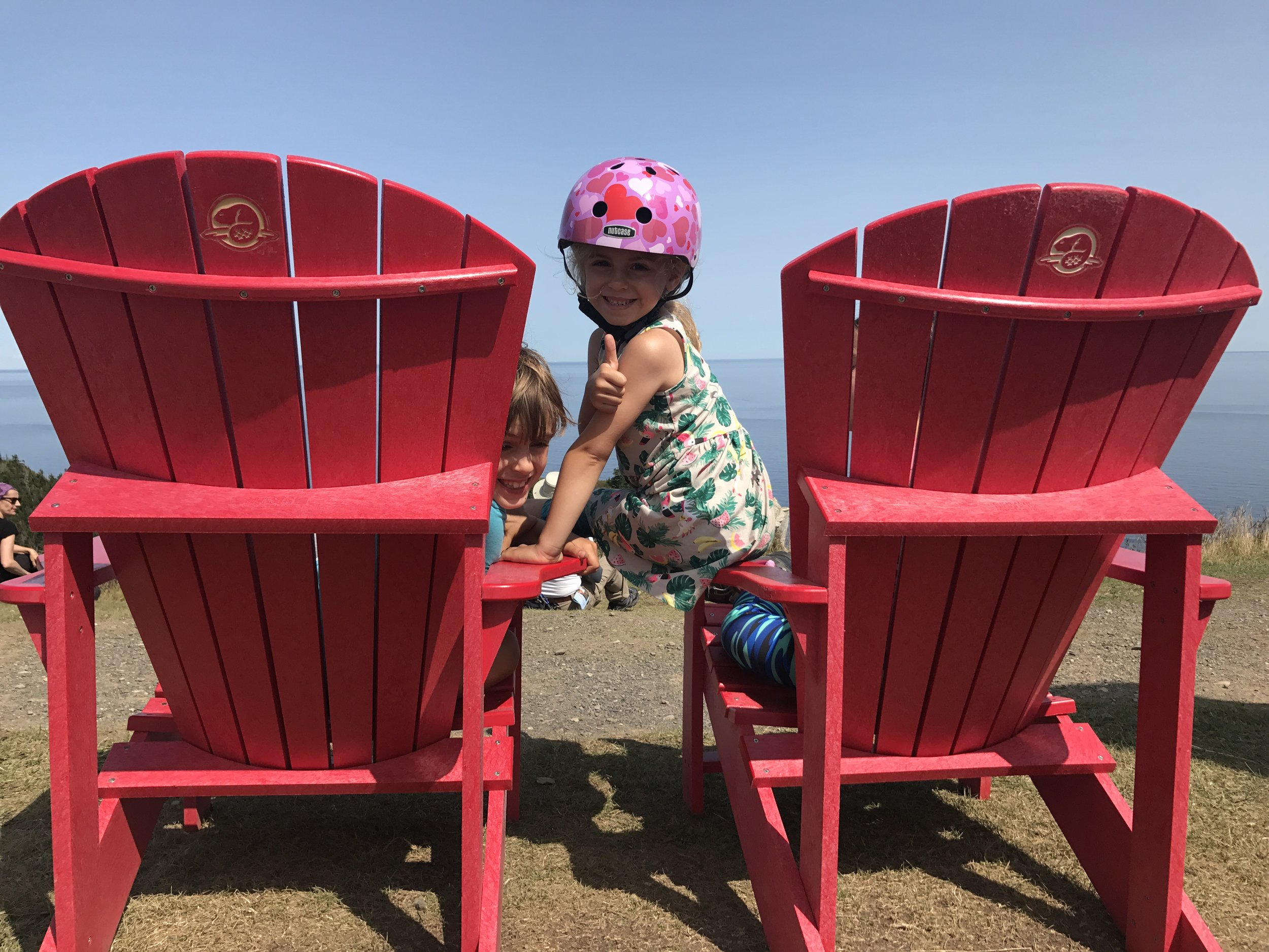 A bike and hike kinda day to find these chairs at the Cap-Gaspé lighthouse in Forillon National Park, Québec. The Gaspé Peninsula is a must see if doing Canada and this park did not disappoint.