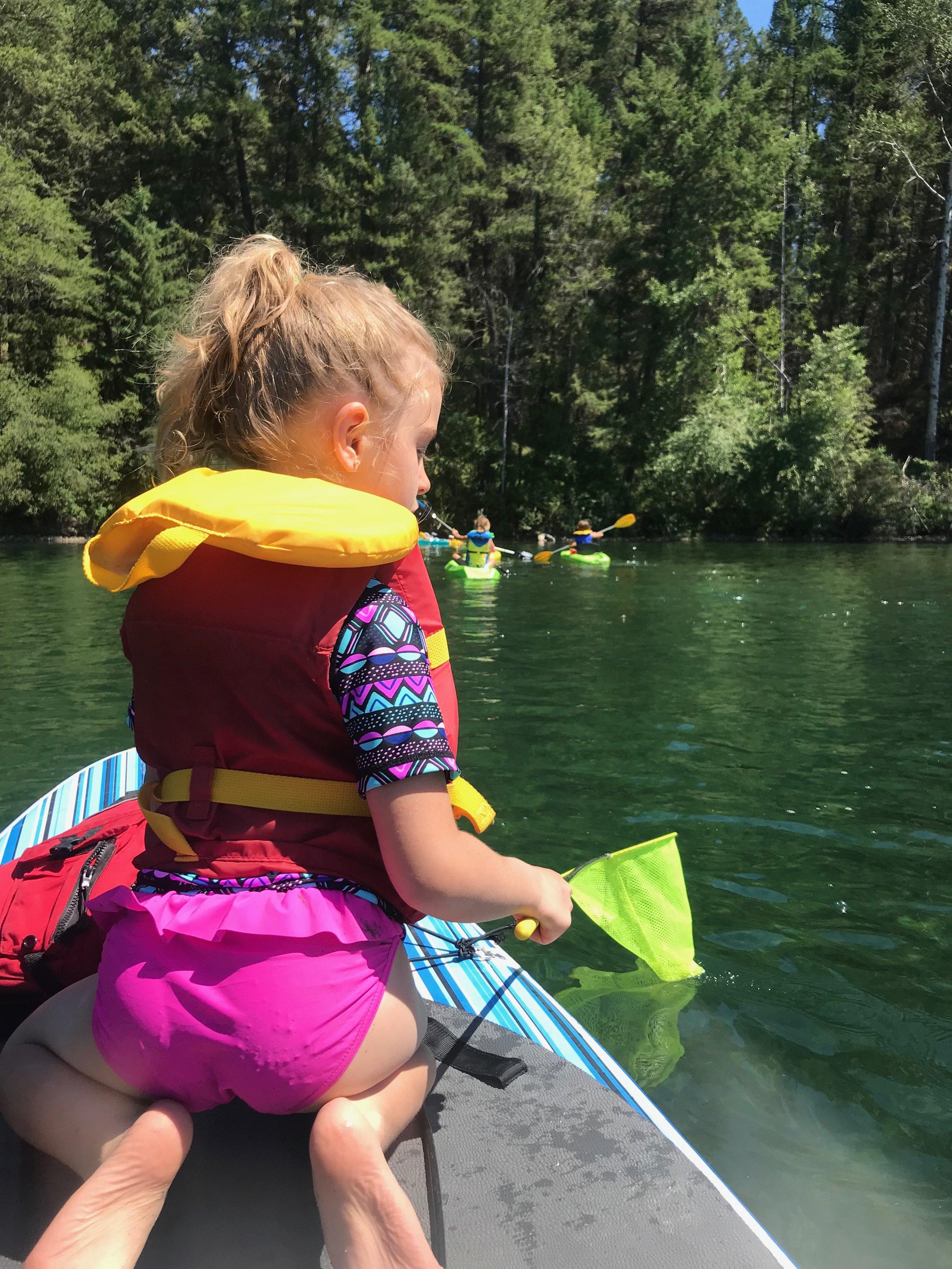 Paddle on Surveyor's Lake, British Columbia.
