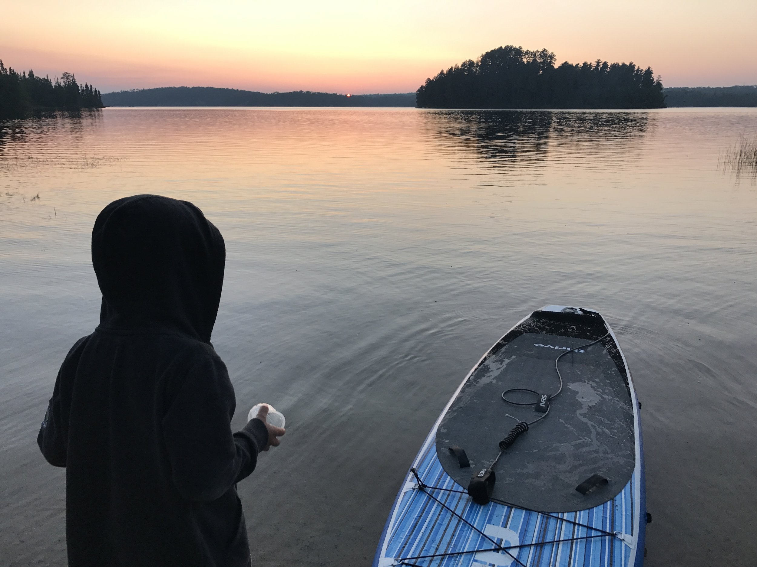 Sundown after a day on the water, Quetico, Ontario.