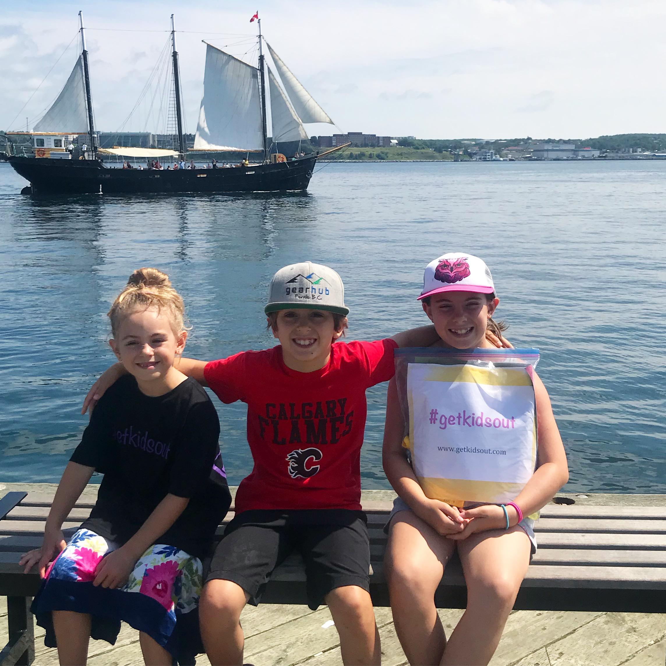 #getkidsout Treasure Bag drop on the Halifax Waterfront