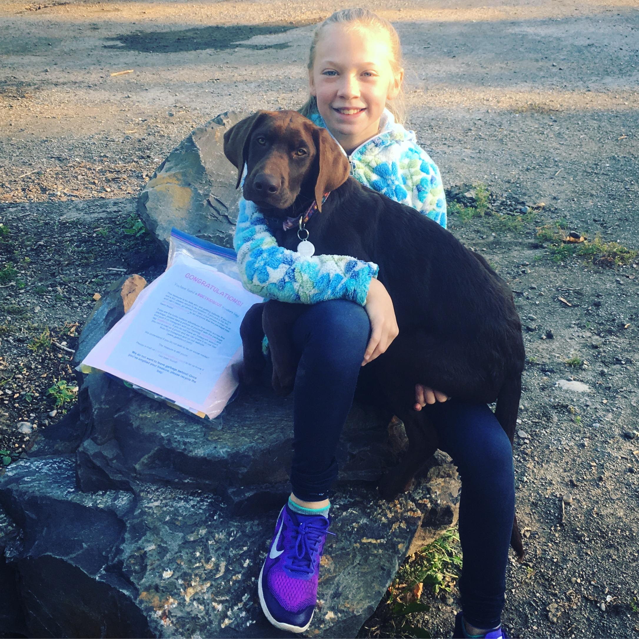 Happy Finder walking her dog!!