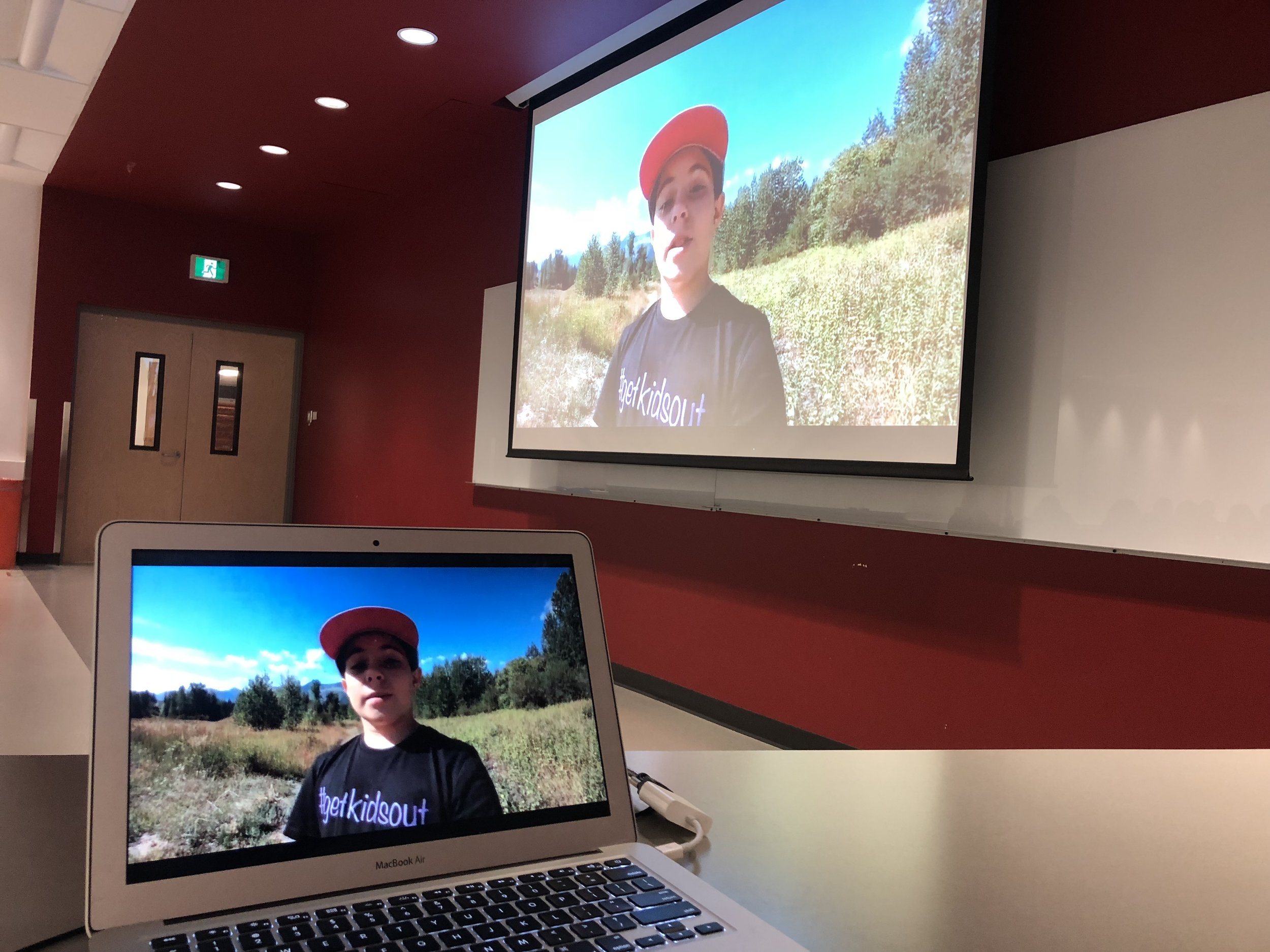 University of Calgary - Here I am on the wall again!! This time in a kinesiology lecture at the University of Calgary…there's lots to be learned even from us kiddos!!-#getkidsout Ambassador SophiePhoto credit: Chris Fenlon-MacDonald