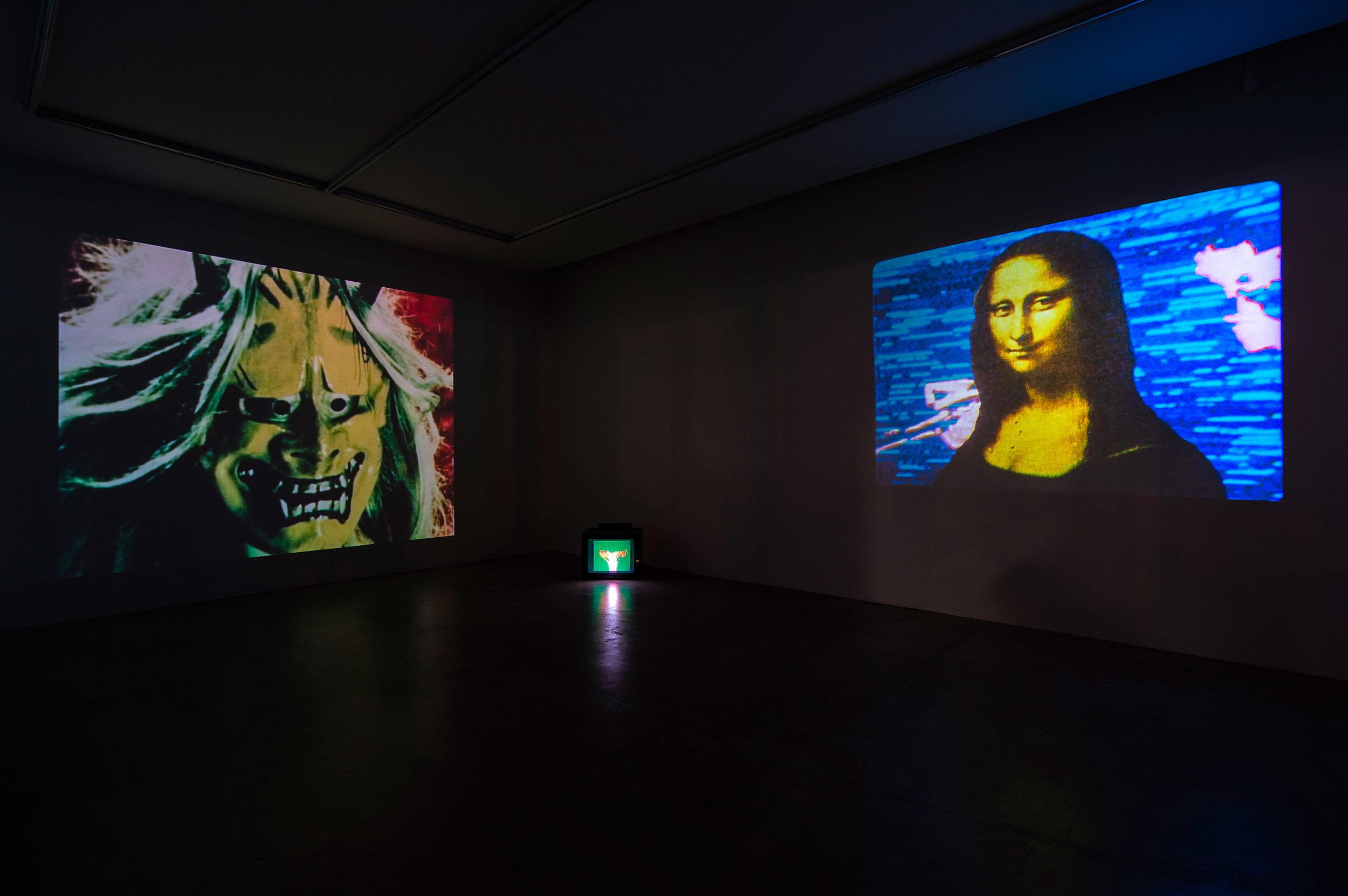 Left: Atman, 1975, 16mm, 11min Center: Expansion, 1972, 16mm, 14min Right: Mona Lisa, 1973, 16mm, 3min