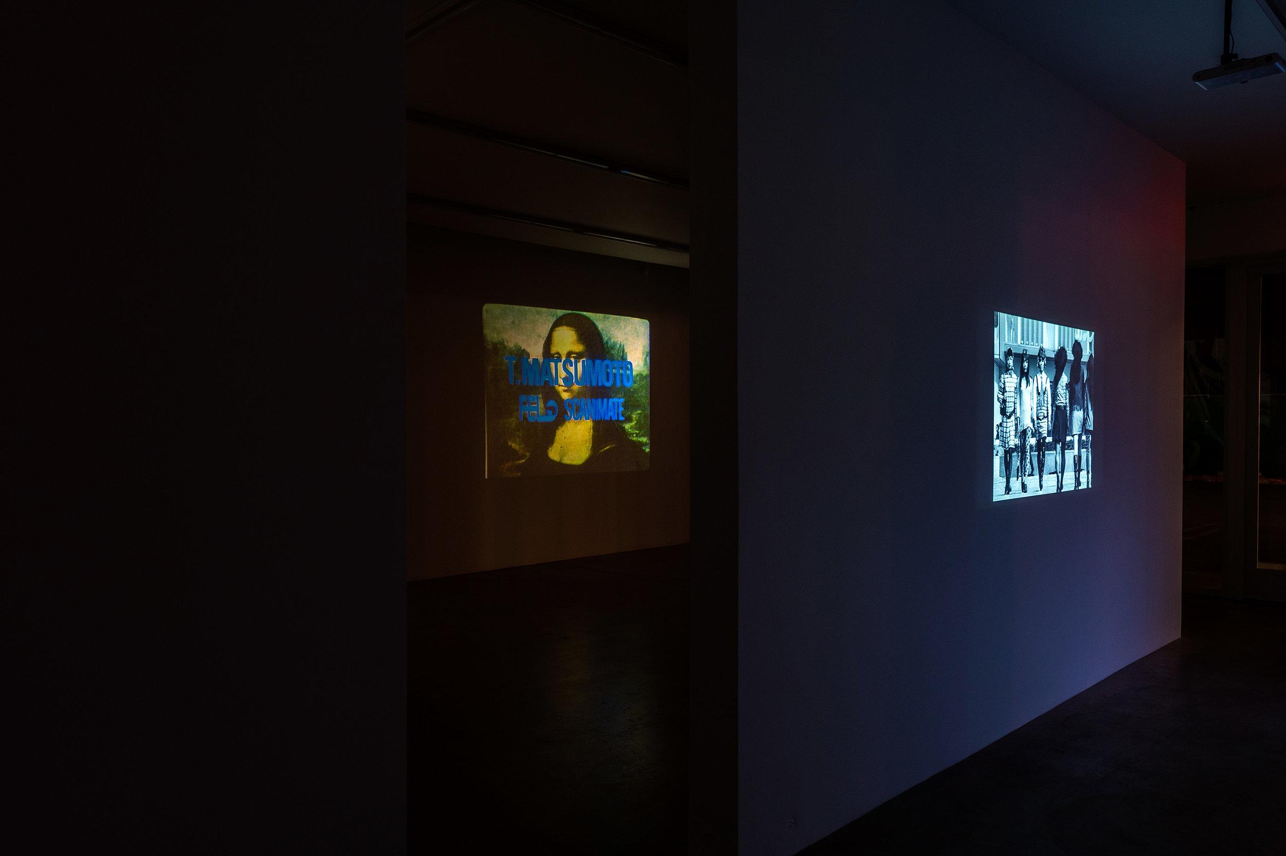 Left: Mona Lisa, 1973, 16mm, 3min Right: Funeral Parade of Roses, 1969, 105 min