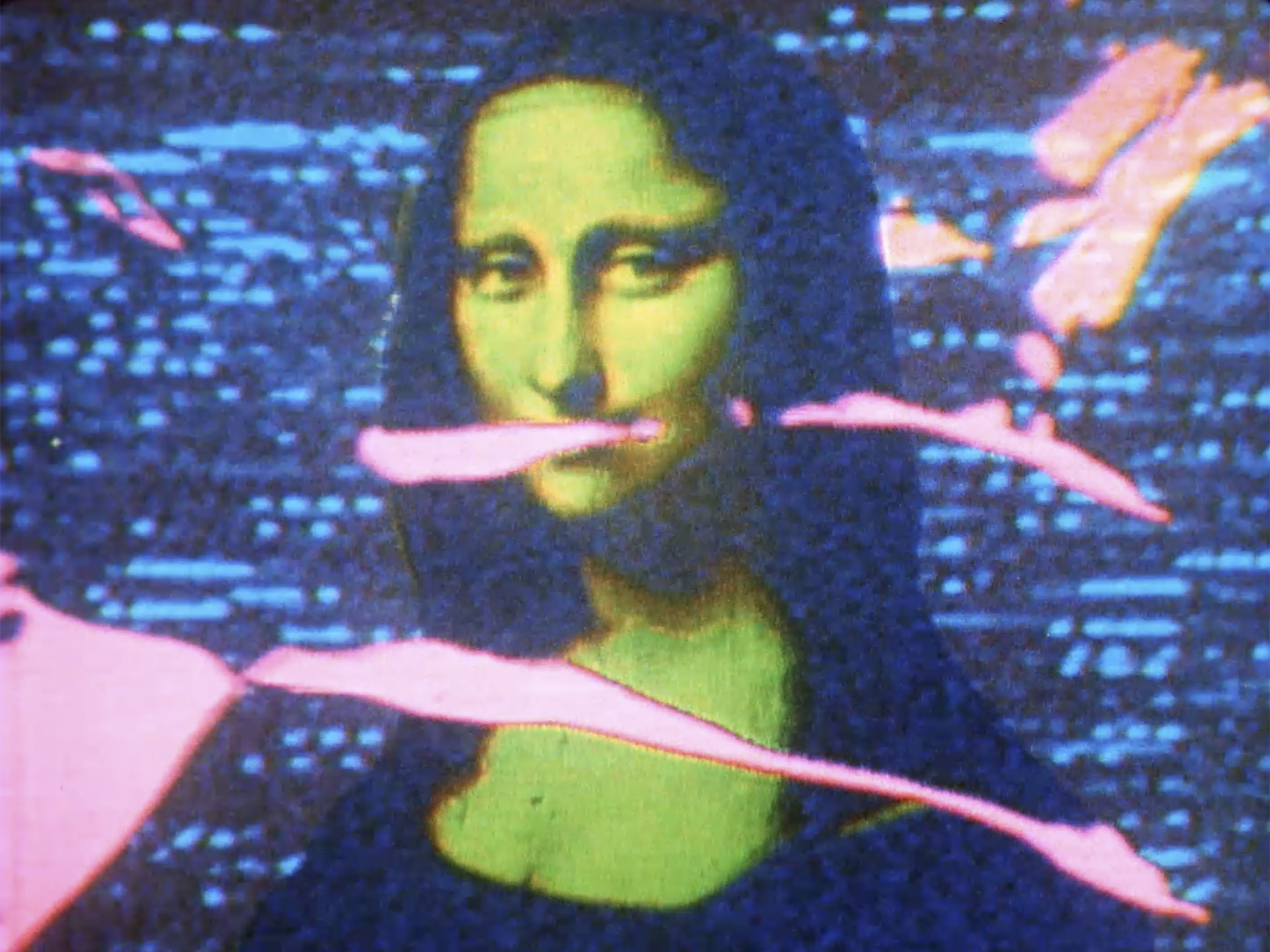 Mona Lisa, 1973, 16mm, 3min(モナリザ)