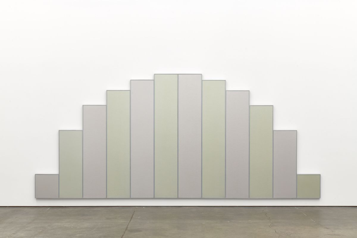 Tadaaki Kuwayama,  Untitled , 1971, acrylic on canvas with aluminum, 12 panels