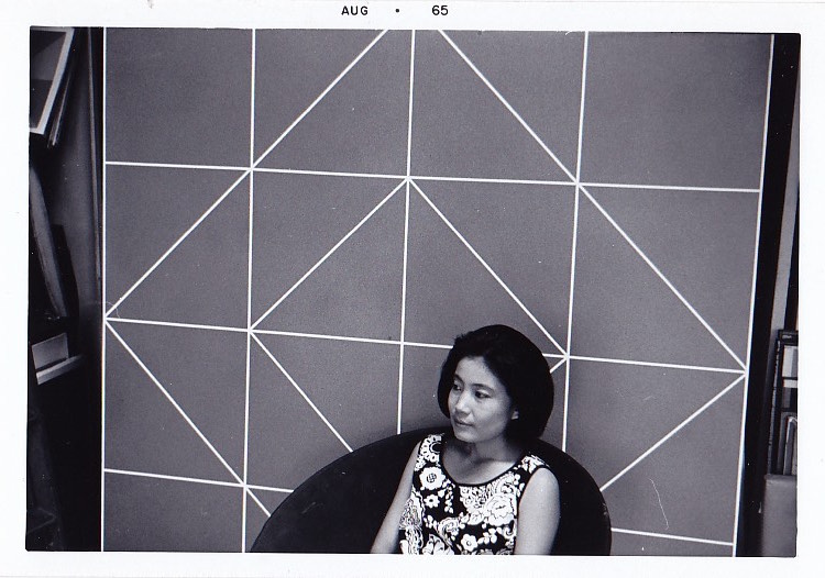 Rakuko Naito in the studio, 1965