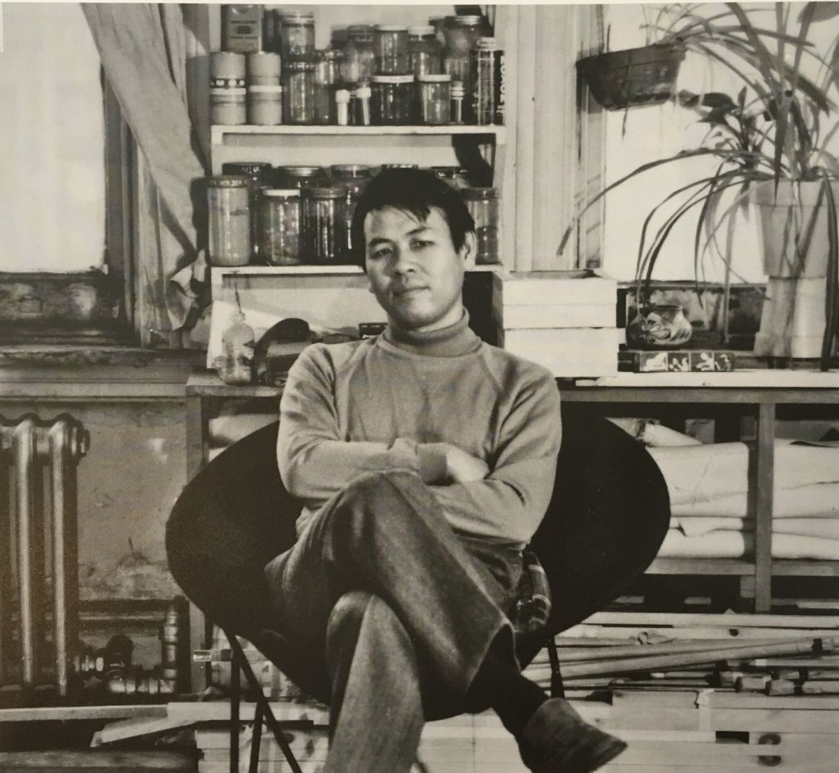 Tadaaki Kuwayama in the studio, 1960s; photo by Paul Katz