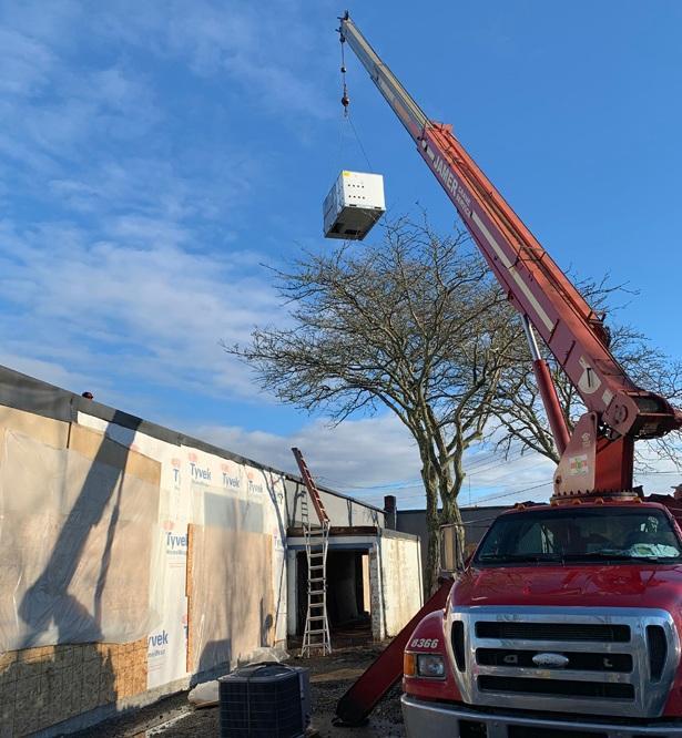 HVAC being installed