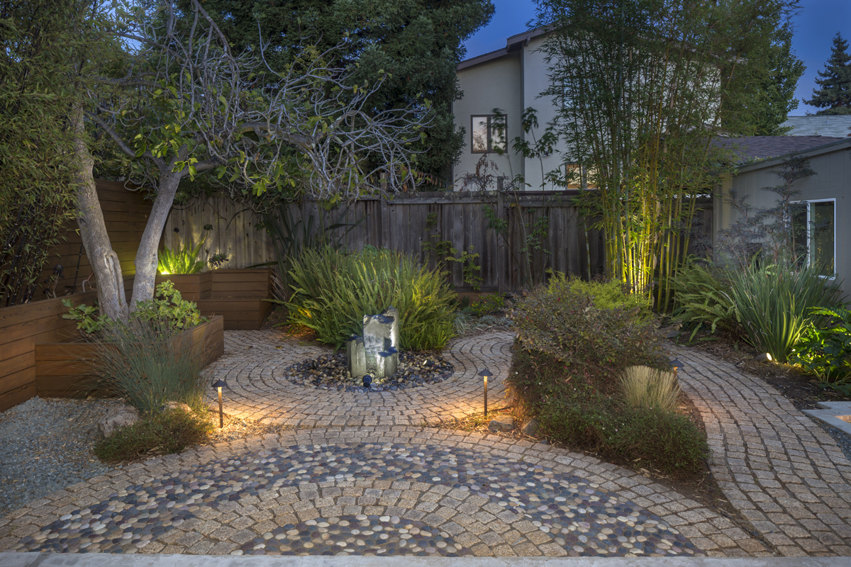Lighting your yard extends your living space visually