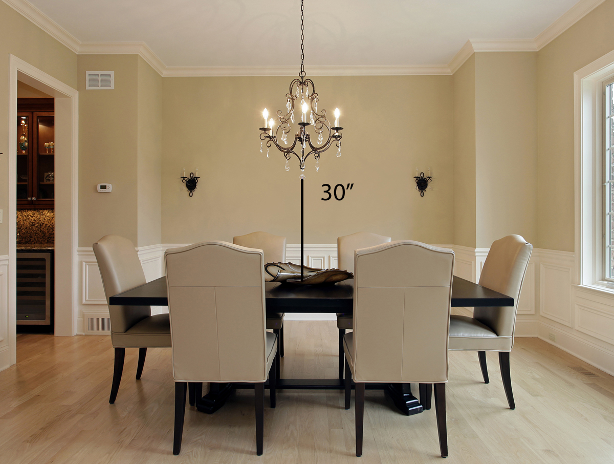 Tips for hanging a chandelier