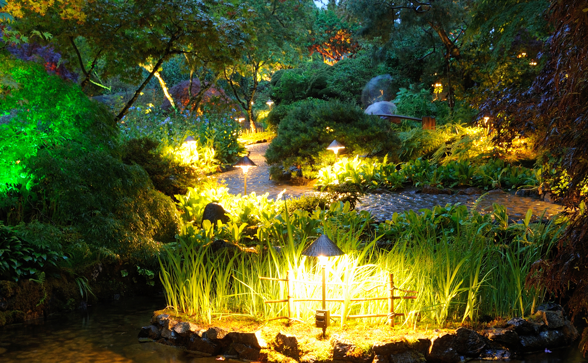 Add lights outdoors to extend your living room