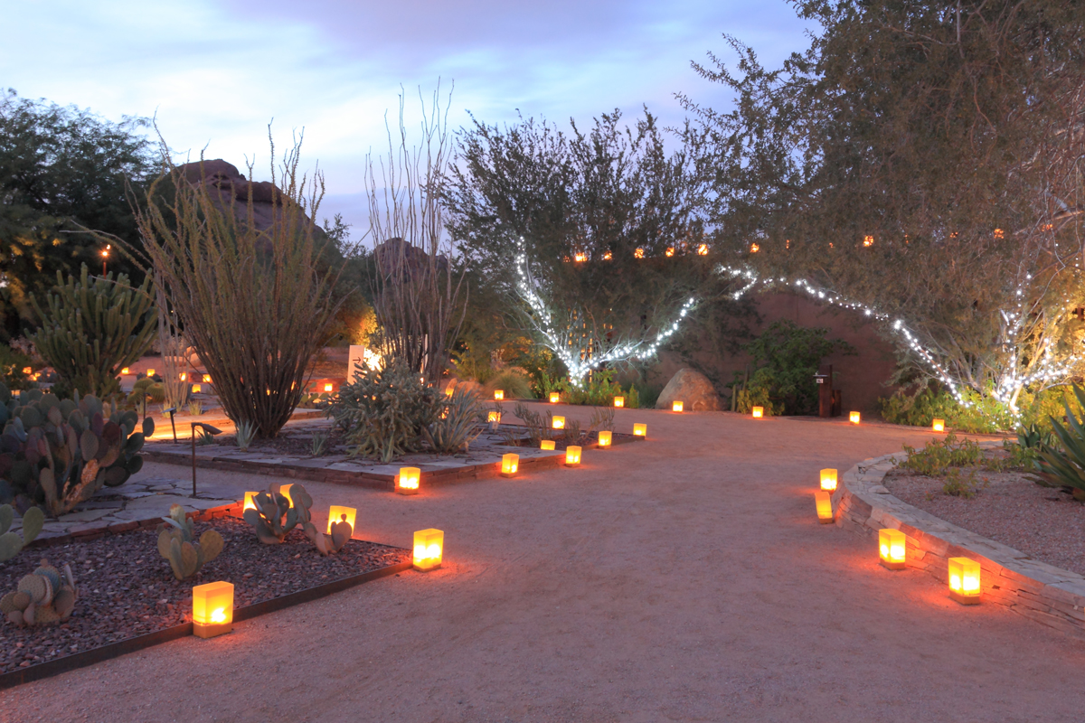 Luminarias make festive temporary path lights