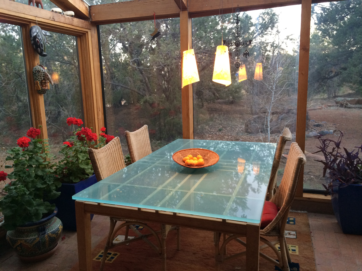 Tech Lighting Kable Lite is a great solution for a sunroom
