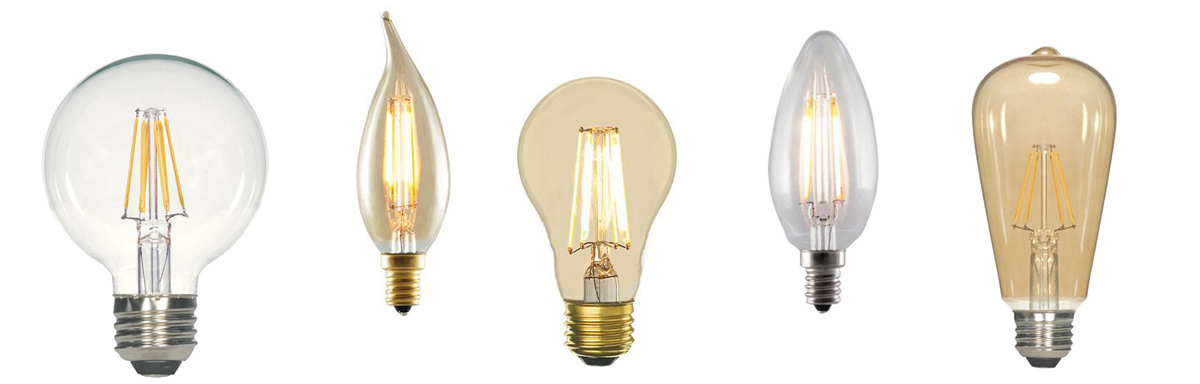 The nostalgic LED filament bulbs comes in many shapes and sizes
