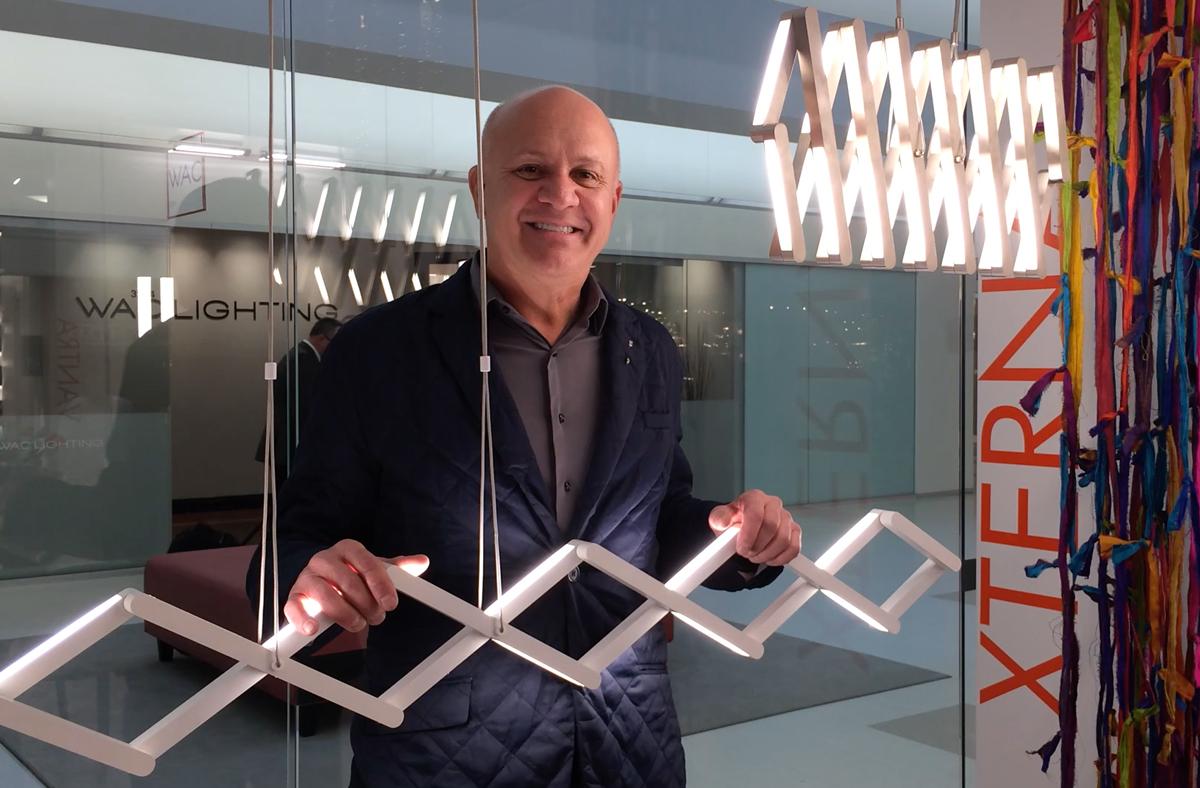 Xterna linear pendant designed by Dennis Beard for LBL Lighting