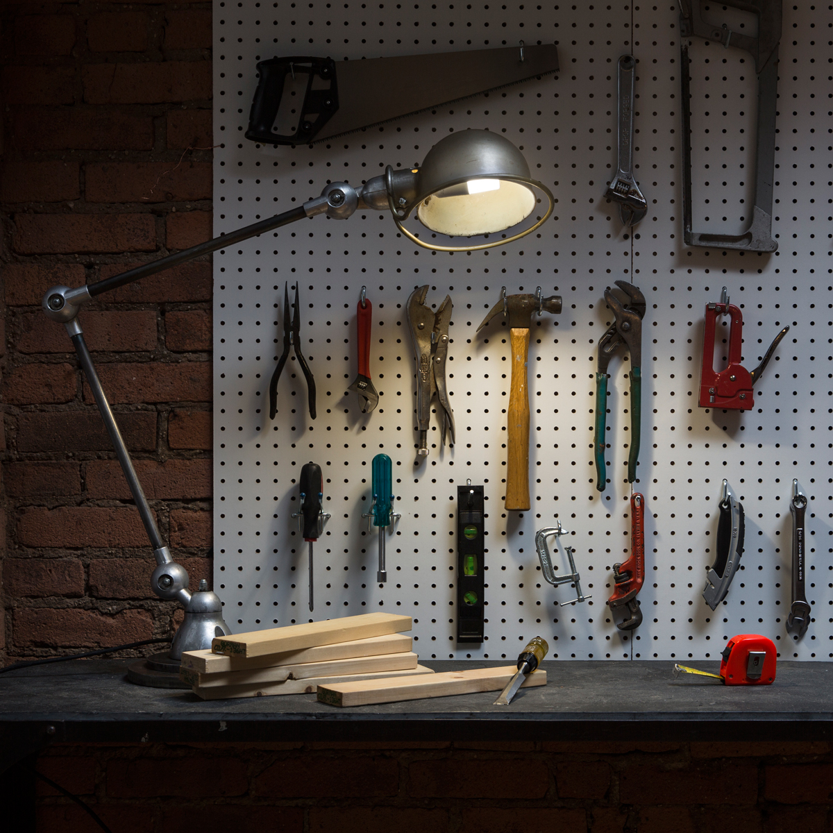 GE Bright Stik works well for a Workbench