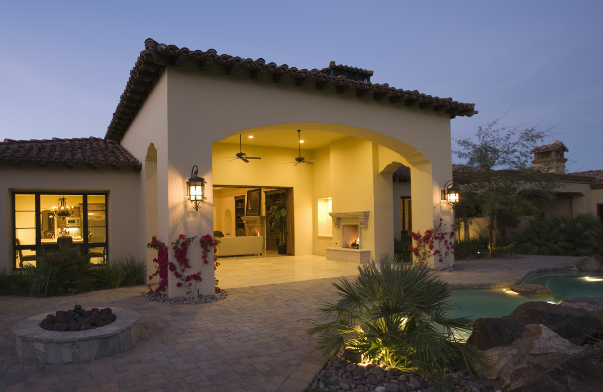 Landscape lighting shows the way