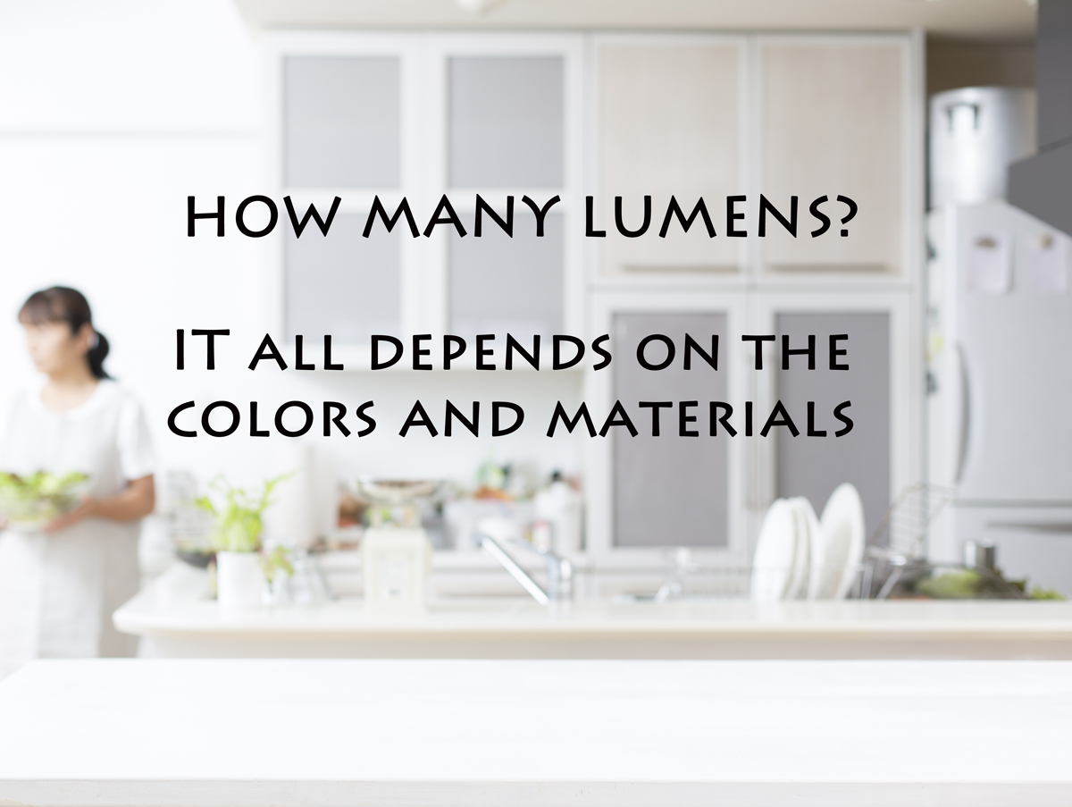 How many lumens do I need in the kitchen