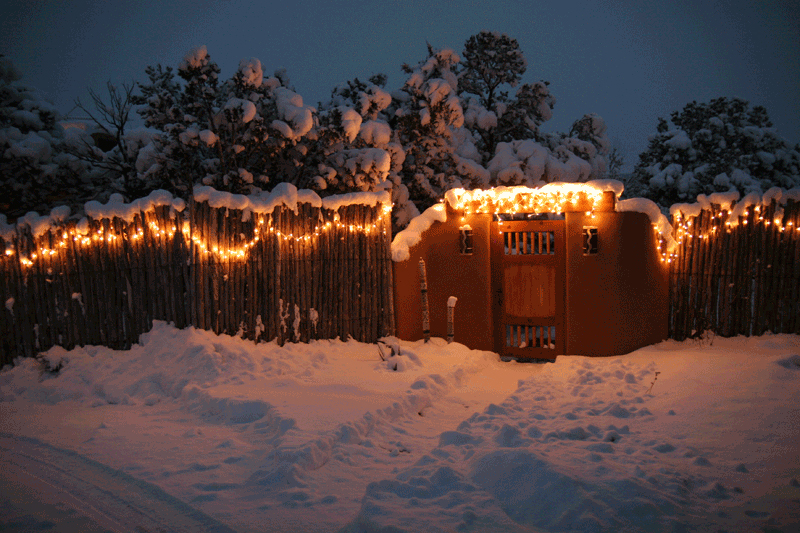 The entrance to our front yard last winter