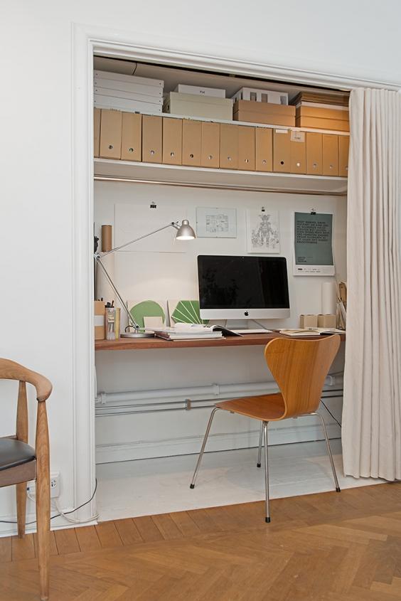 Tiny home office - via Alvhem