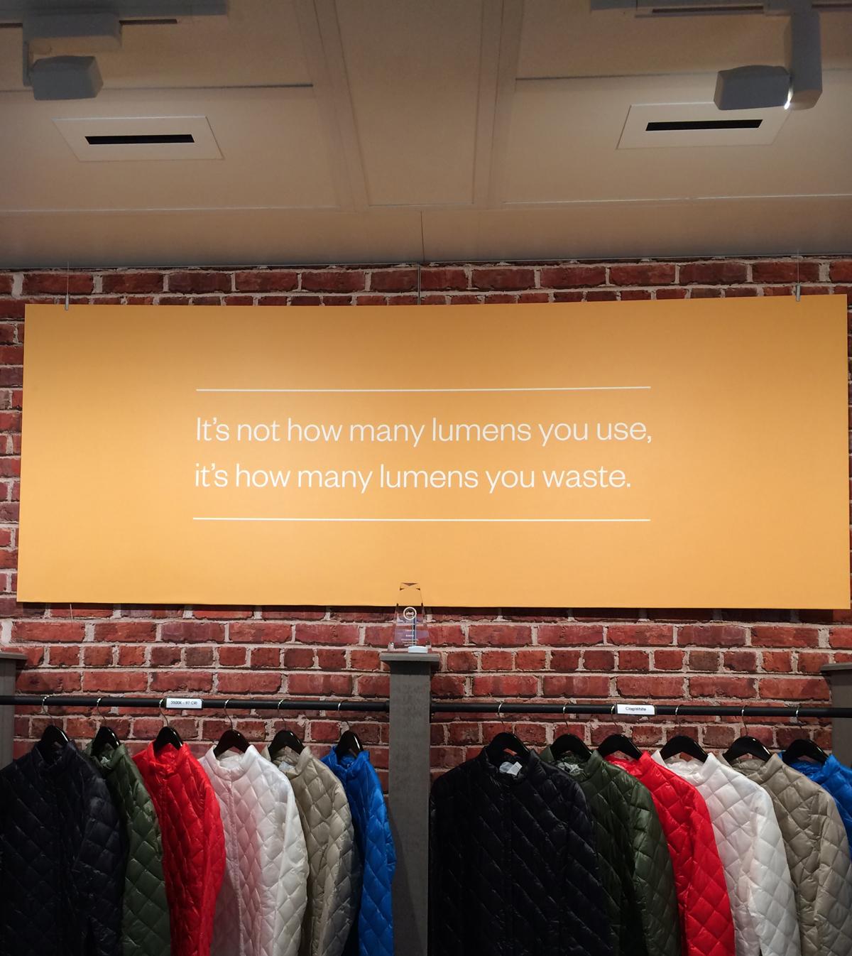 Amerlux retail lighting as shown at Lightfair 2015