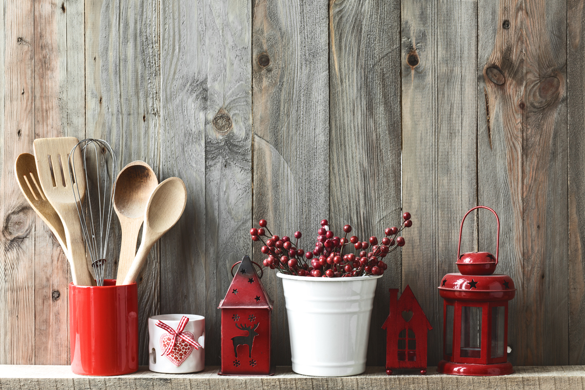 Use small Holiday details everywhere for added atmosphere.