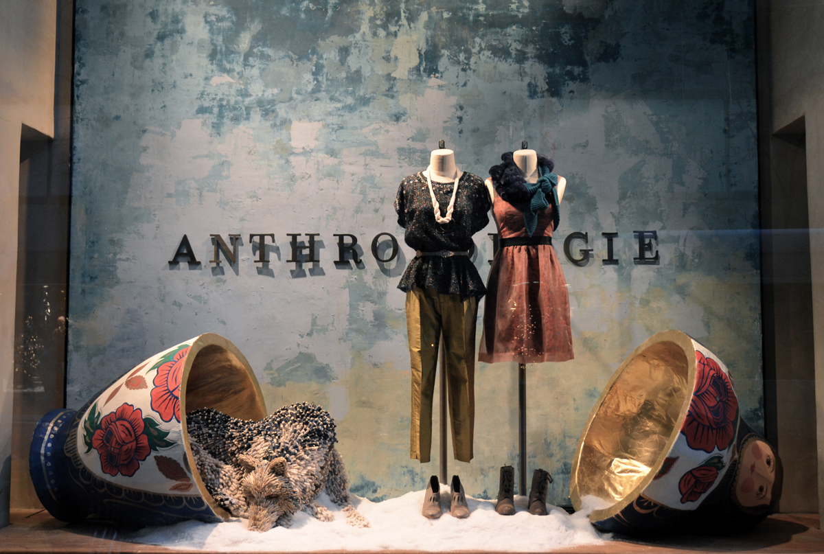 Anthropologie NYC 2013, via Victoria-Lipov-Shutterstock.com