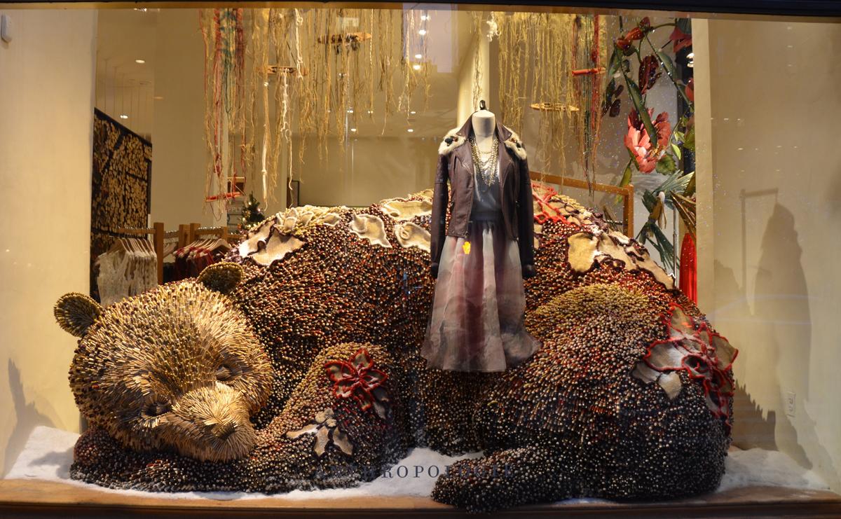 Anthropologie Holiday display viaVictoria-Lipov-Shutterstock.com