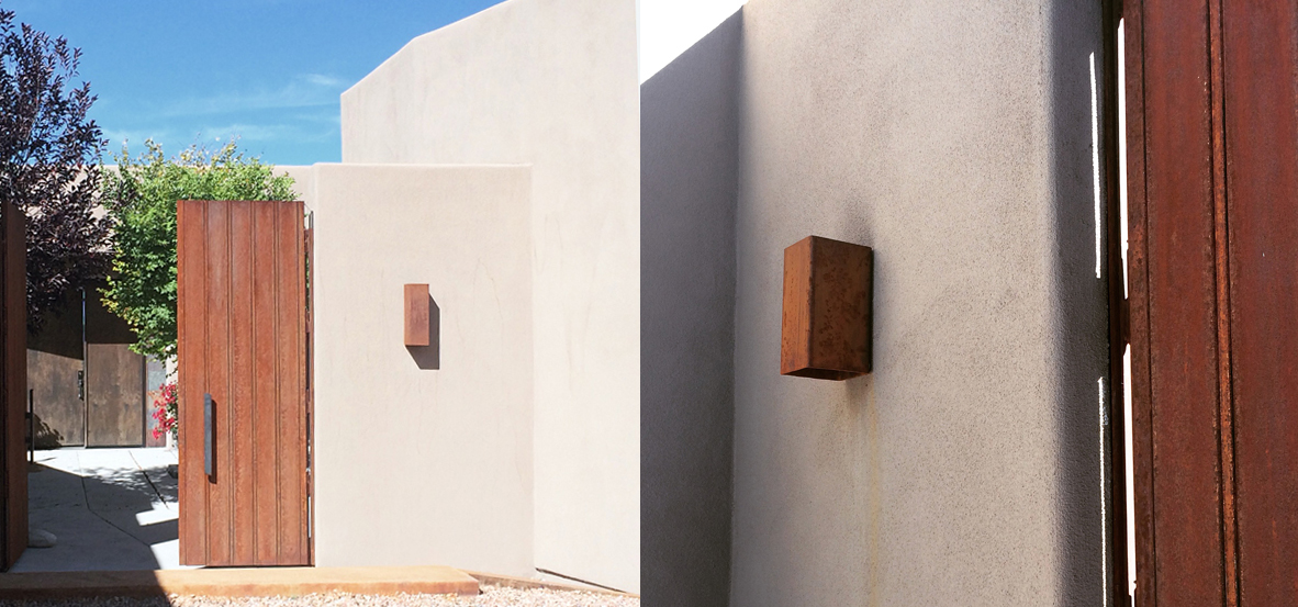 Outdoor wall lights in Santa Fe, New Mexico