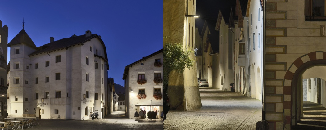Glurns Italy Lighting Design by Ewo. Photography: Oskar da Riz